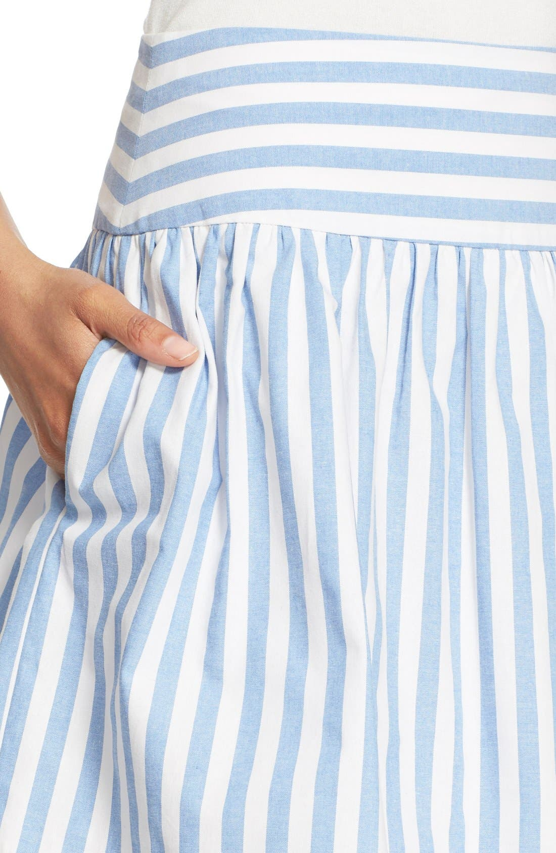 Alternate Image 5  - Milly Breton Stripe A-Line Skirt