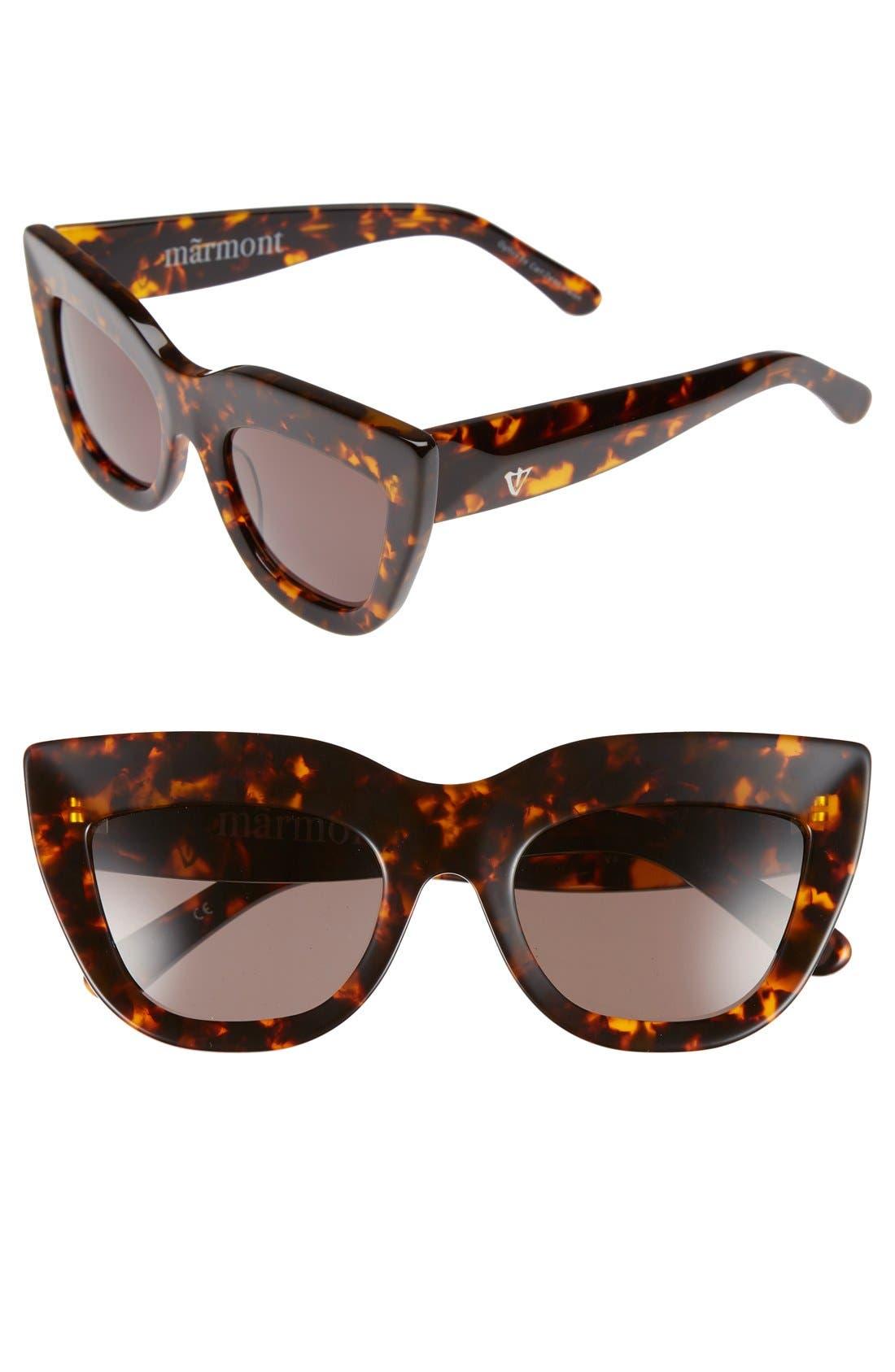 VALLEY Marmont 52mm Cat Eye Sunglasses