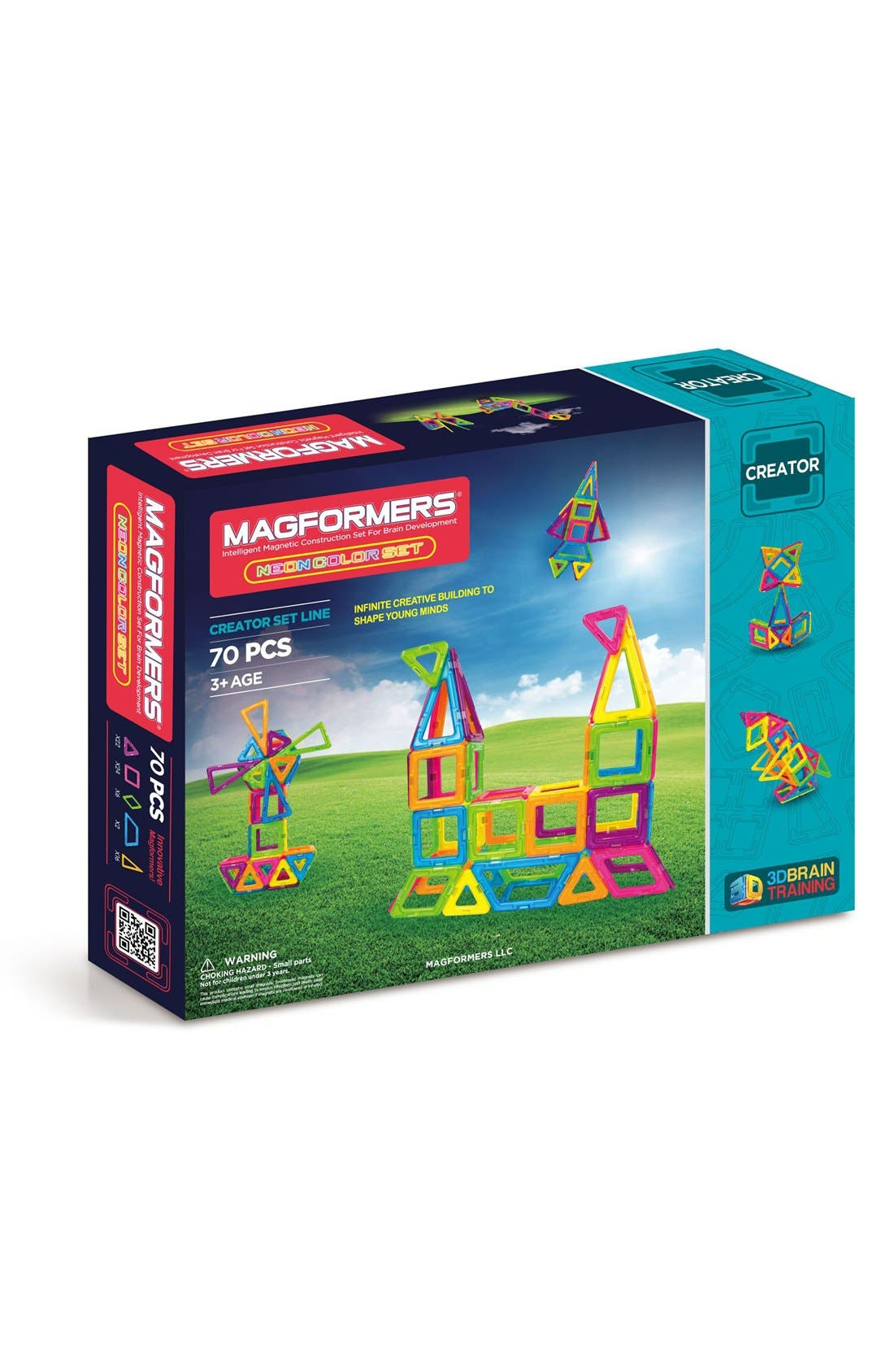 Main Image - Magformers 'Creator' Neon Magnetic 3D Construction Set