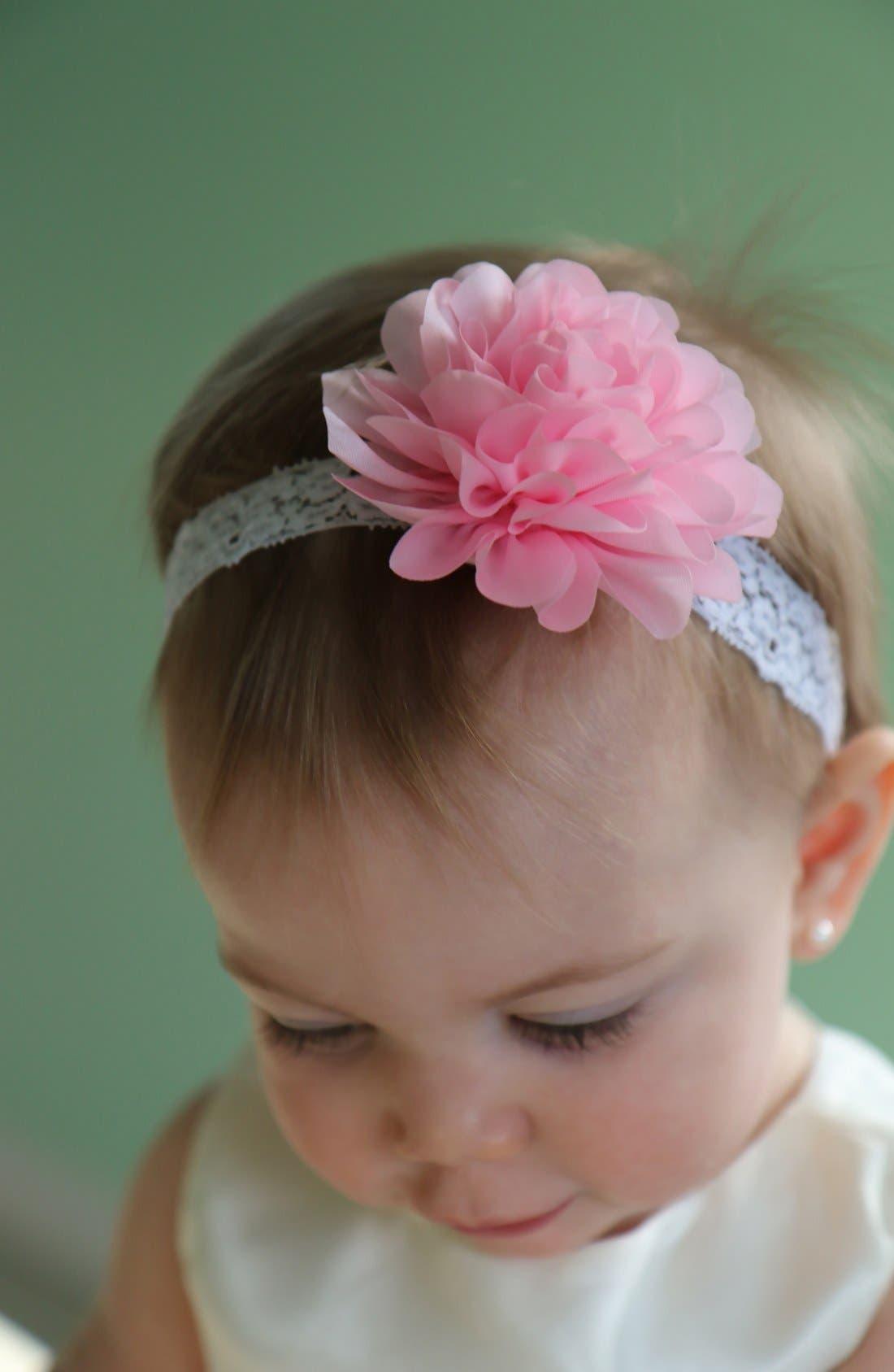Mum Embellished Lace Head Wrap,                             Alternate thumbnail 4, color,                             White