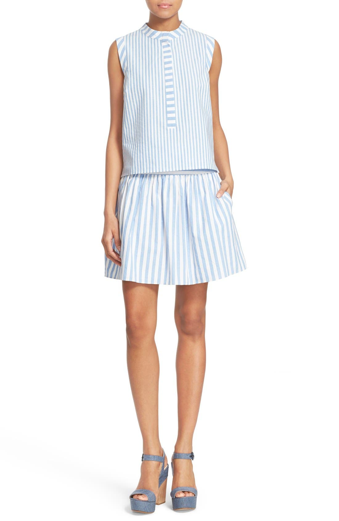 Alternate Image 2  - Milly Breton Stripe A-Line Skirt