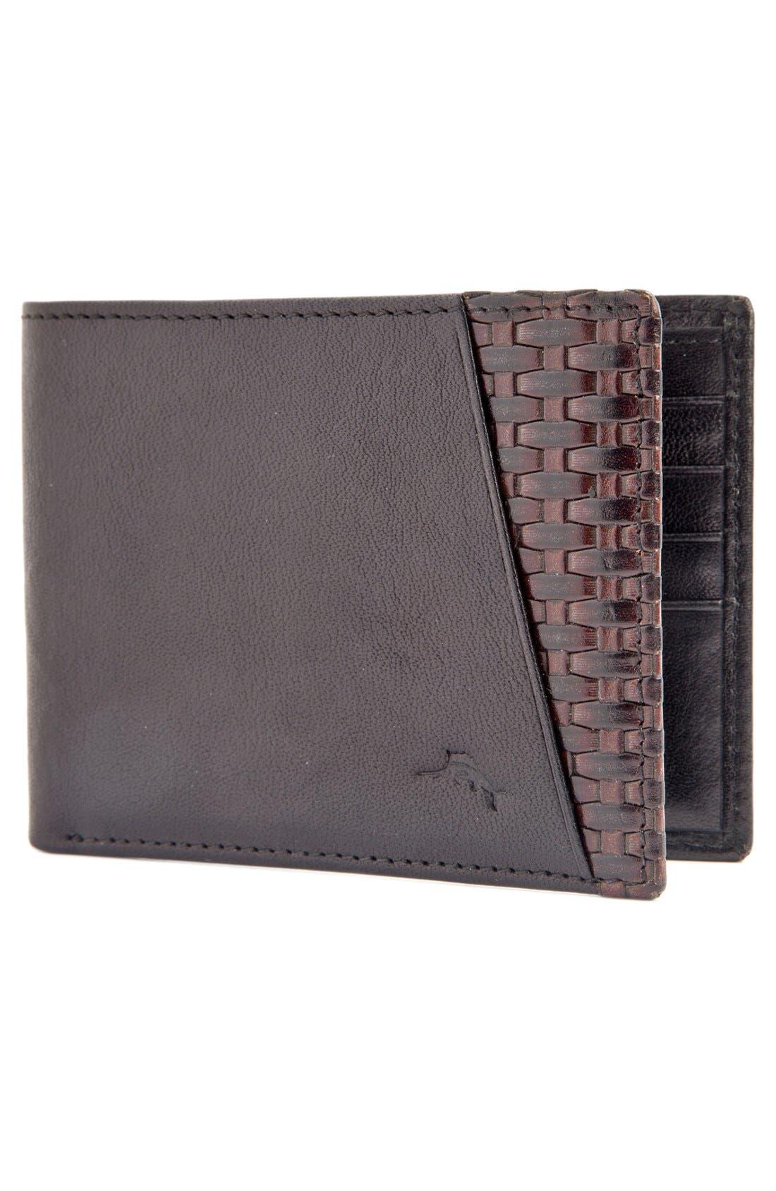 Alternate Image 2  - Tommy Bahama 'Basketweave' Leather Wallet