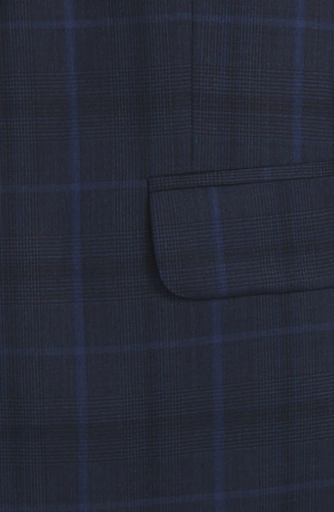 Alternate Image 2  - DKNY Plaid Wool Suit (Big Boys)