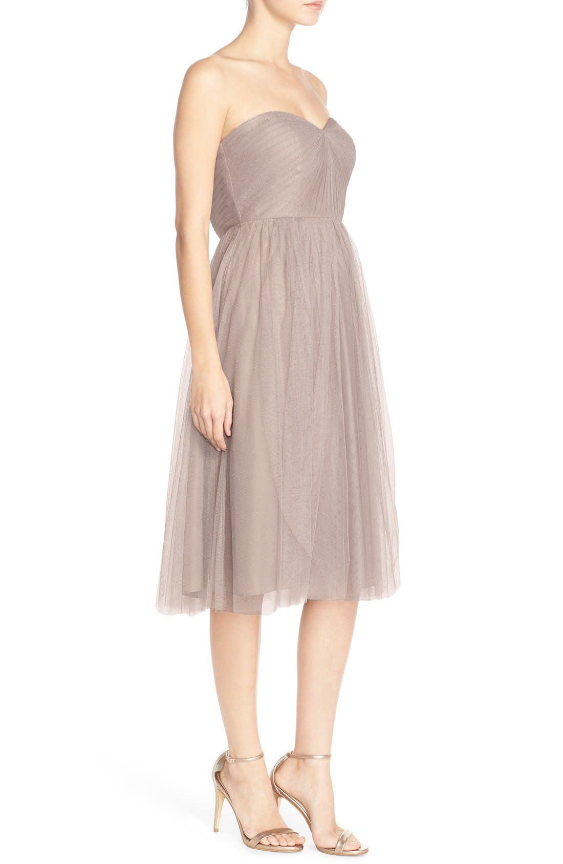 Alternate Image 4  - Jenny Yoo 'Maia' Convertible Tulle Tea Length Fit & Flare Dress