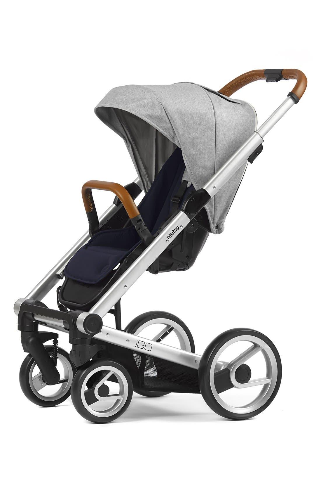 'Igo - Pure Fog' Stroller,                         Main,                         color, Grey/ Silver
