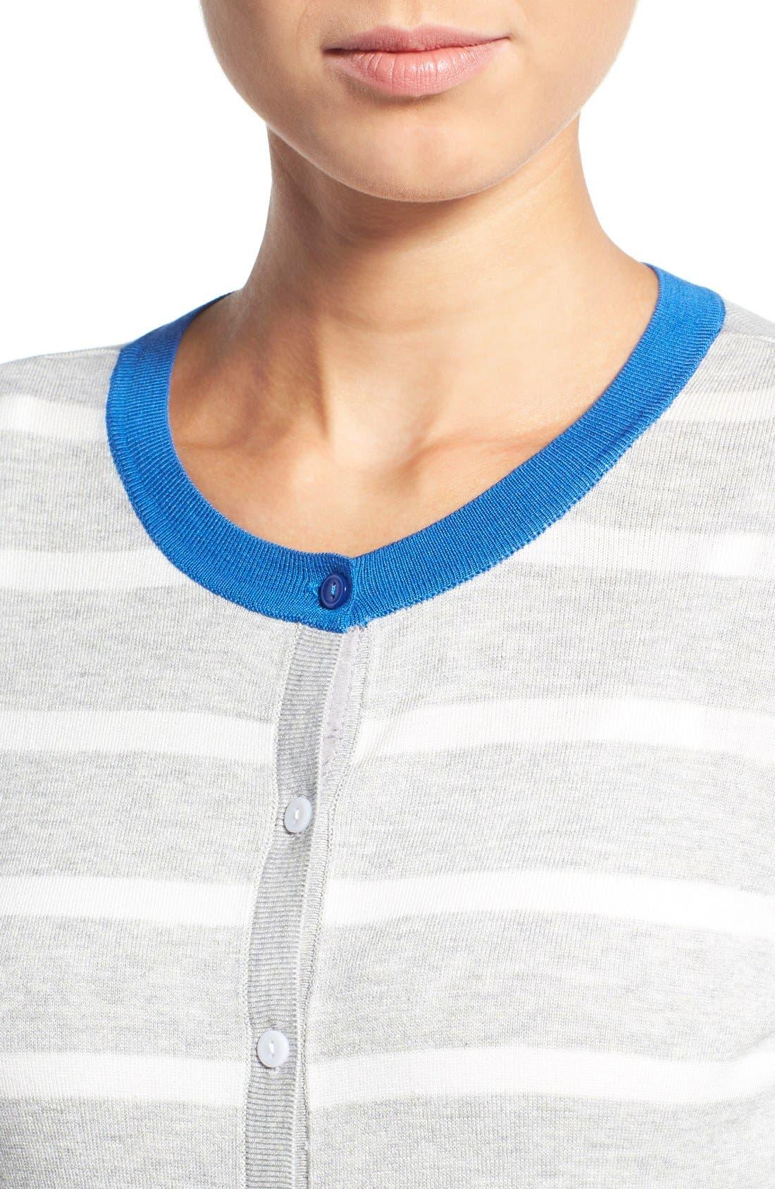 Alternate Image 4  - Halogen® Three Quarter Sleeve Cardigan (Regular & Petite)