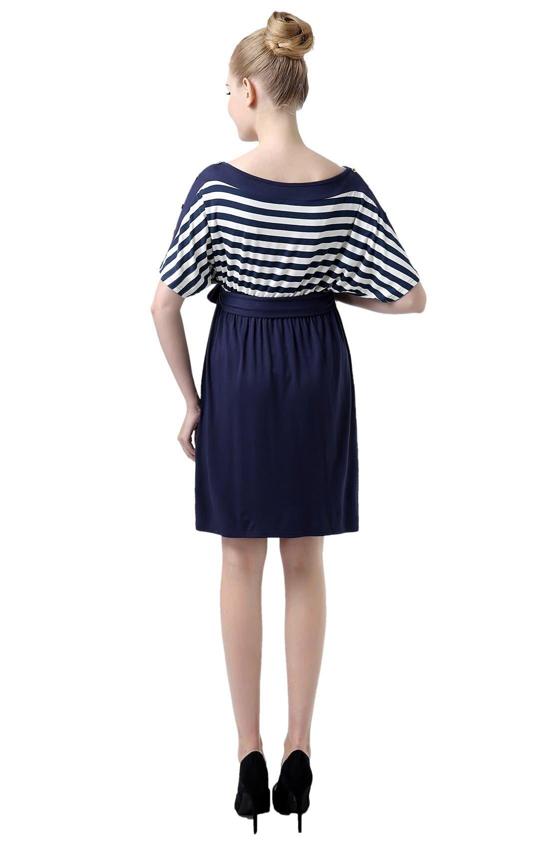 Alternate Image 2  - Kimi and Kai 'Willow' Stripe Maternity Dress