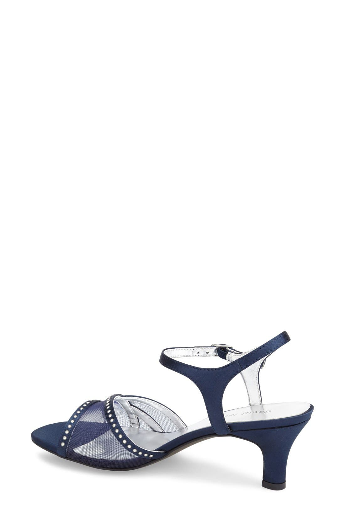 'Violet - Night Out' Sandal,                             Alternate thumbnail 2, color,                             Navy Satin