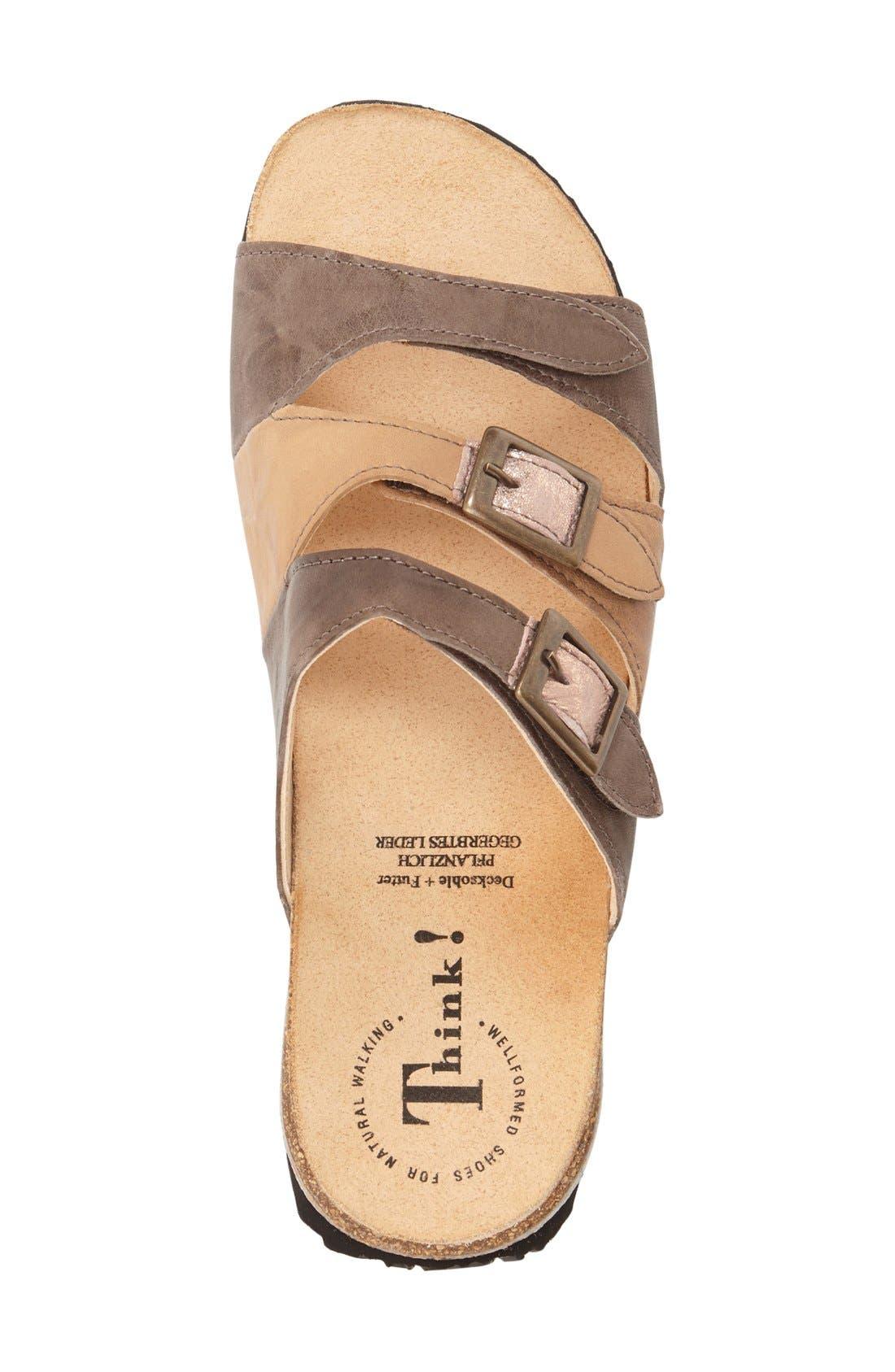 'Mizzi' Sandal,                             Alternate thumbnail 3, color,                             Cappucino Leather