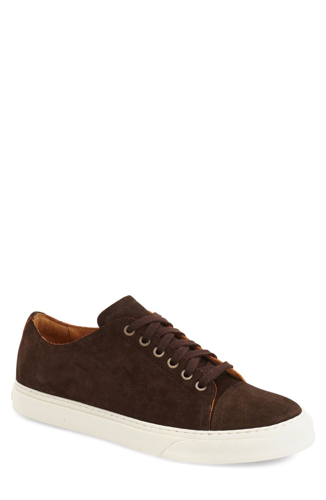 'Quort' Sneaker,                             Main thumbnail 1, color,                             Chocolate Suede