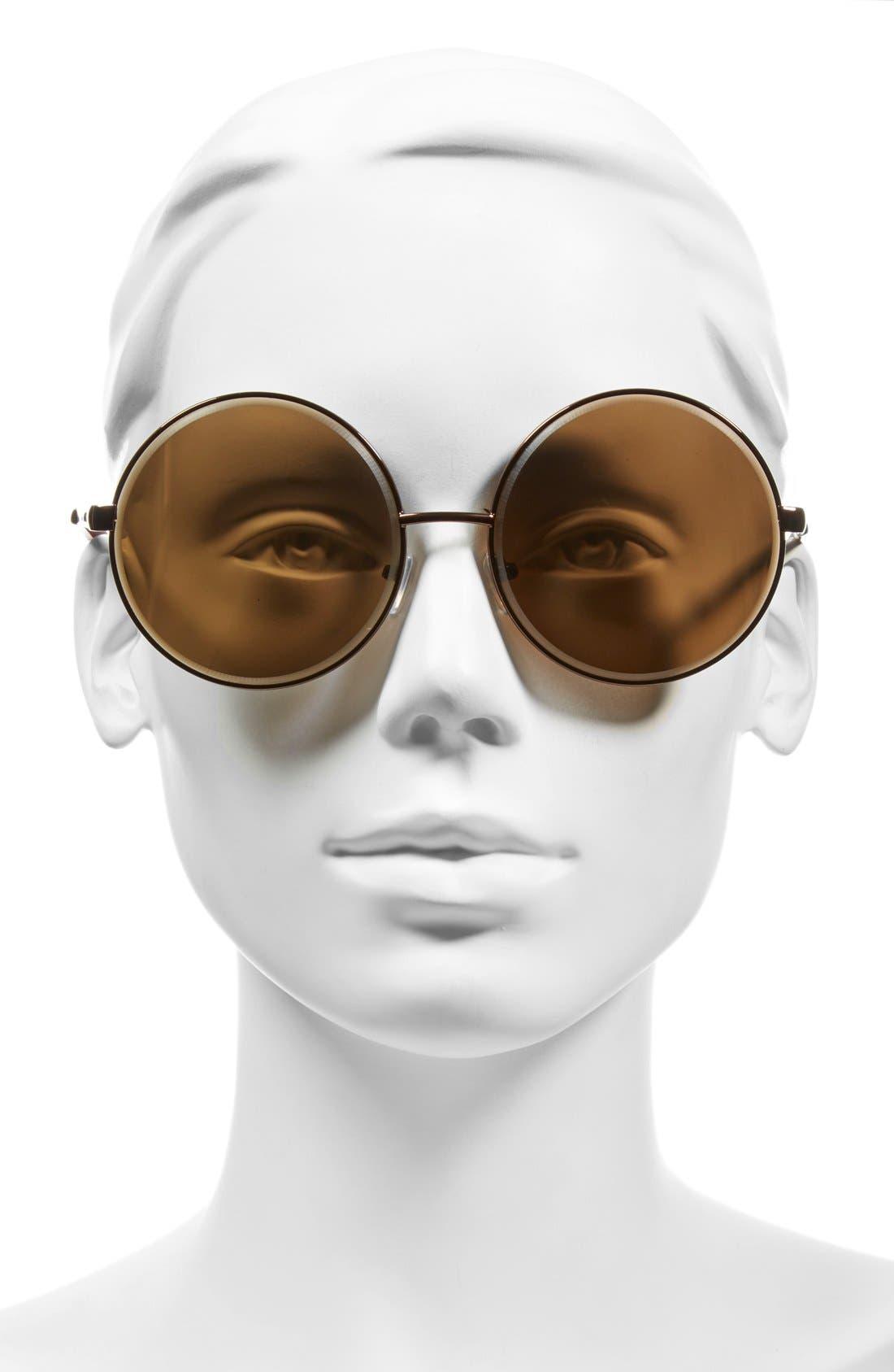 Alternate Image 2  - A.J. Morgan 'Global' 60mm Oversize Round Sunglasses