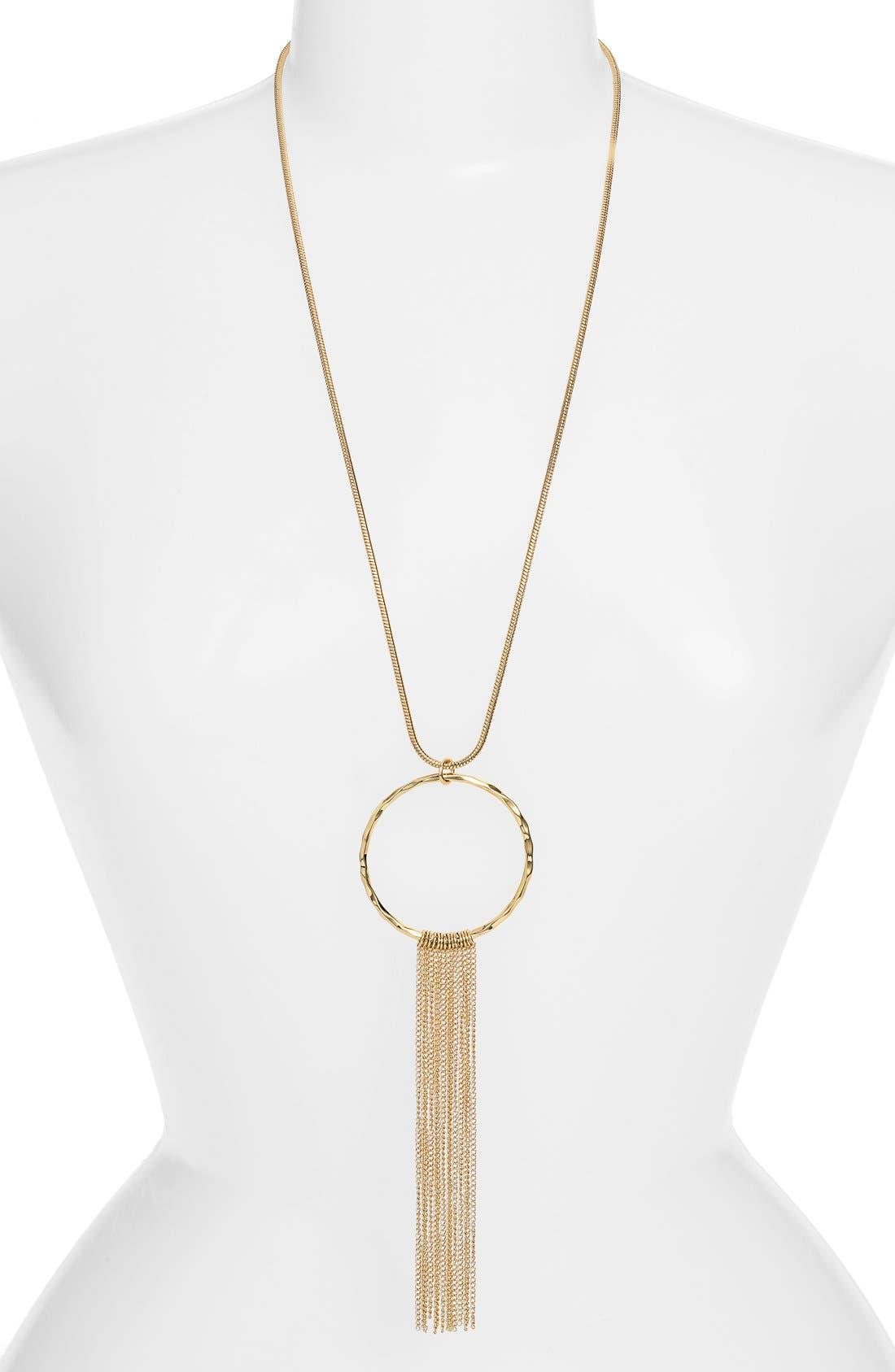 Alternate Image 1 Selected - Jules Smith 'Oslo' Tassel Pendant Necklace