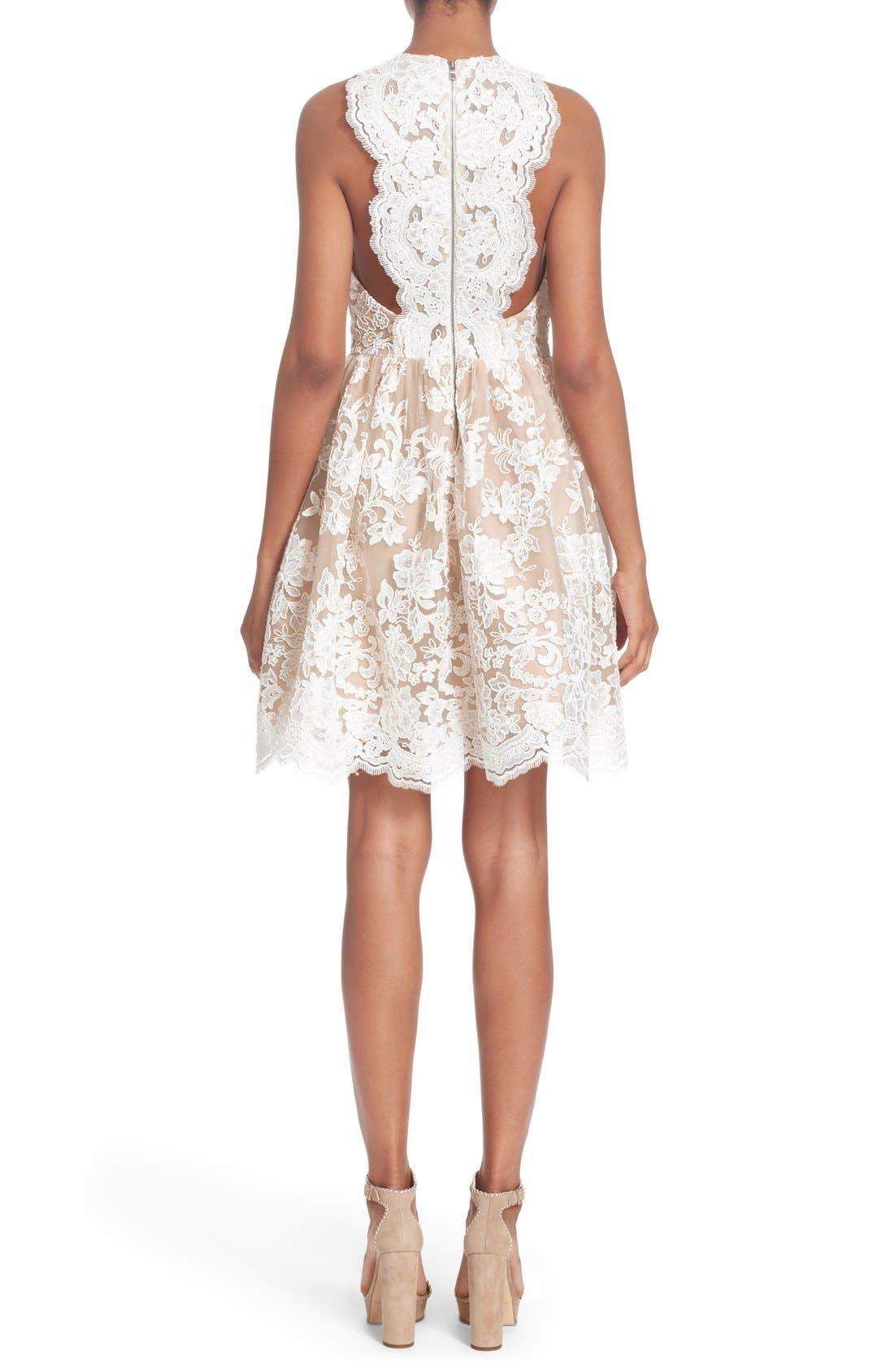 Alternate Image 2  - Alice + Olivia 'Ladonna' Lace Fit & Flare Dress