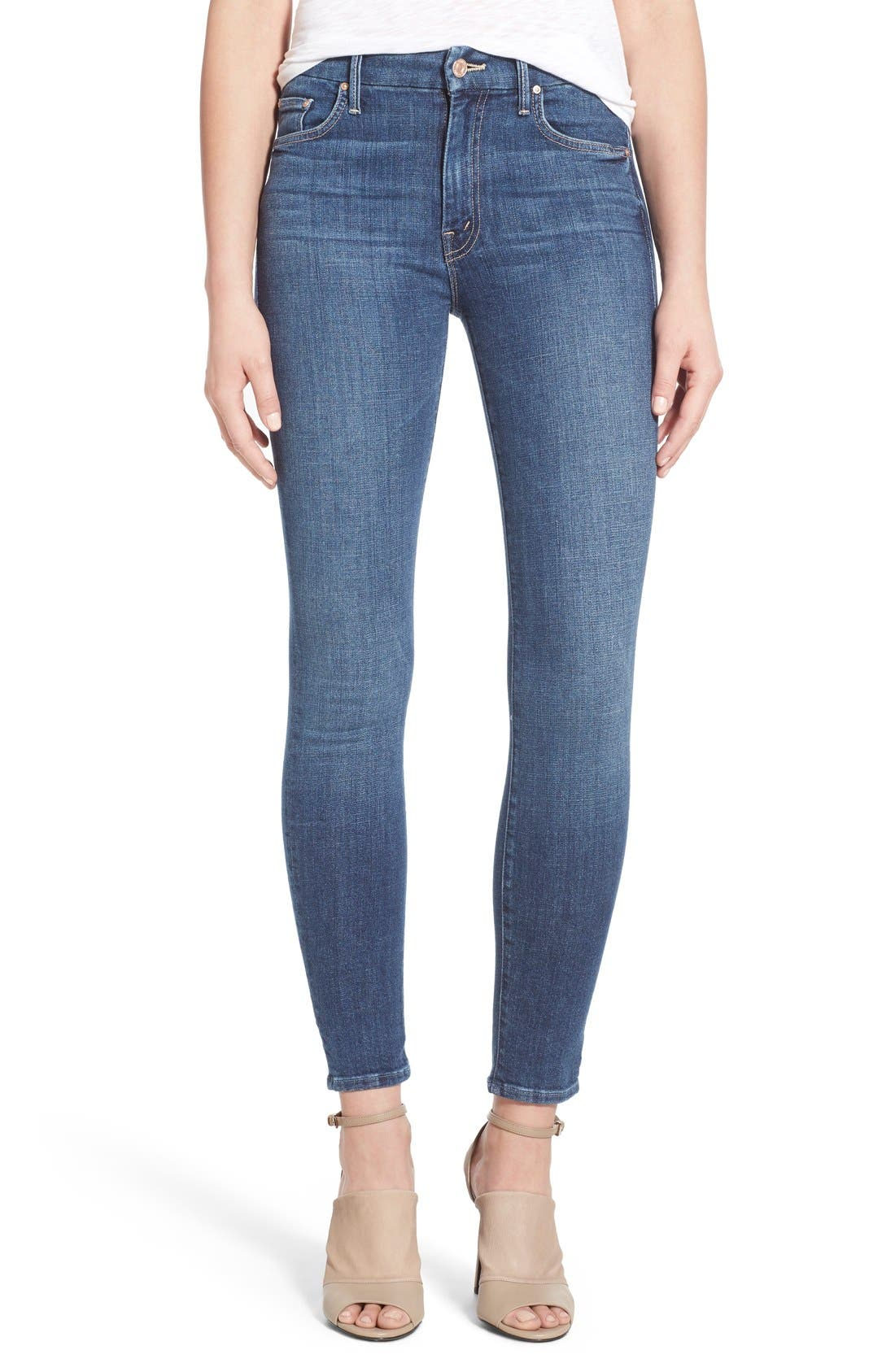 Alternate Image 1 Selected - MOTHER 'The Looker' High Rise Skinny Jeans (Girl Crush)
