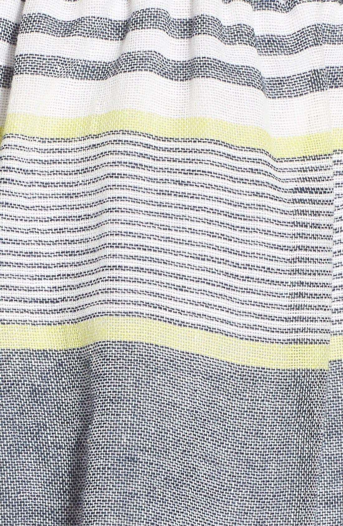 ASTR 'Ibiza' Linen & Cotton Shorts,                             Alternate thumbnail 5, color,                             Lime Stripe