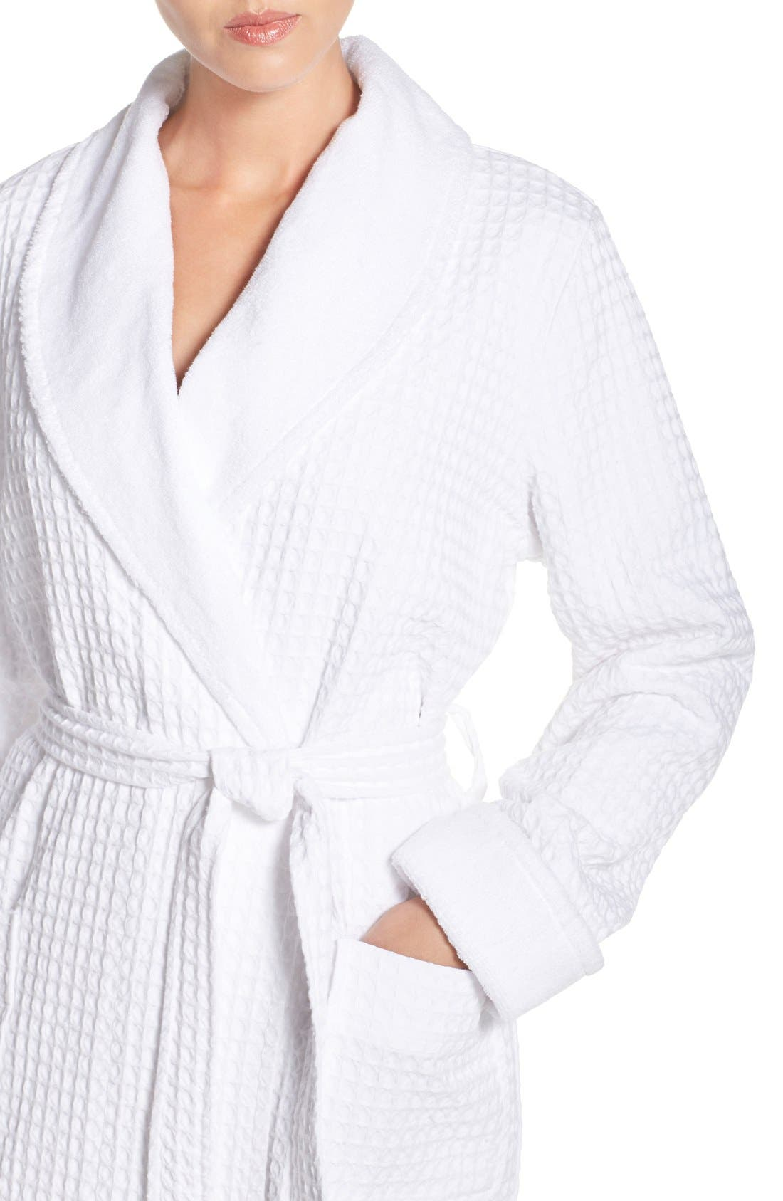 Alternate Image 4  - Nordstrom Lingerie Terry Cotton Robe