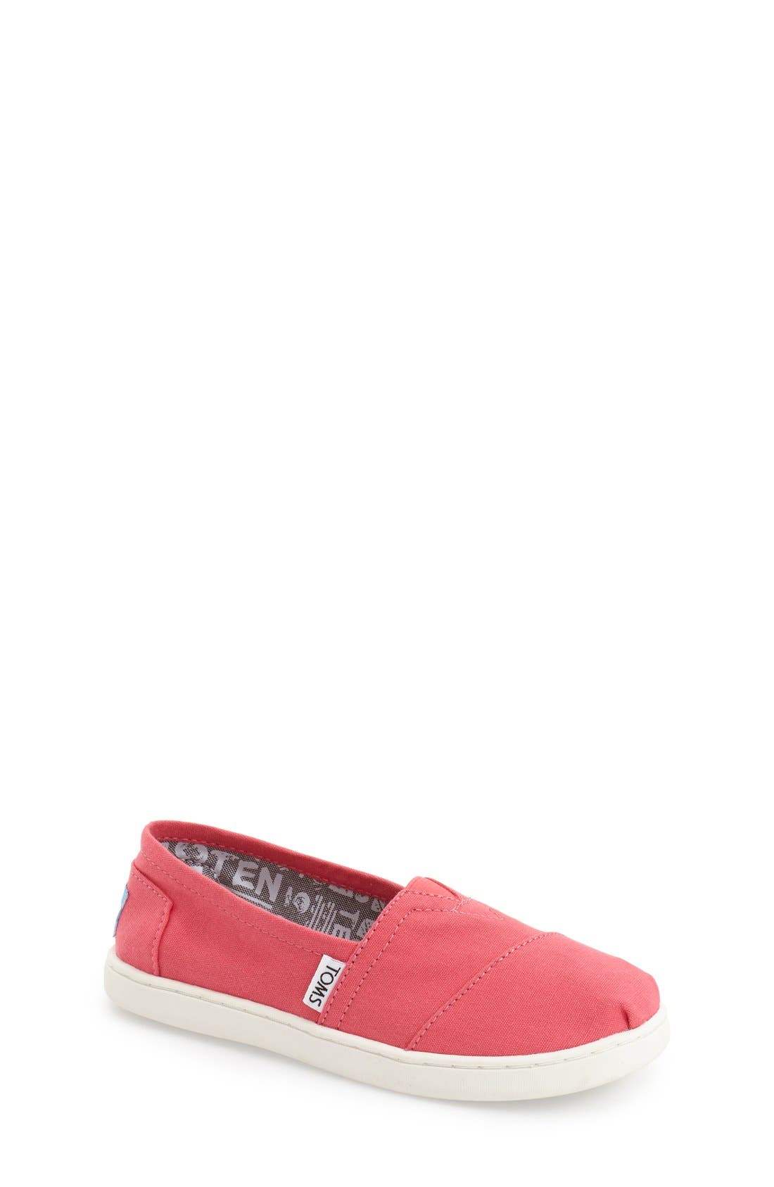 'Classic - Youth' Slip-On,                             Main thumbnail 1, color,                             Medium Pink
