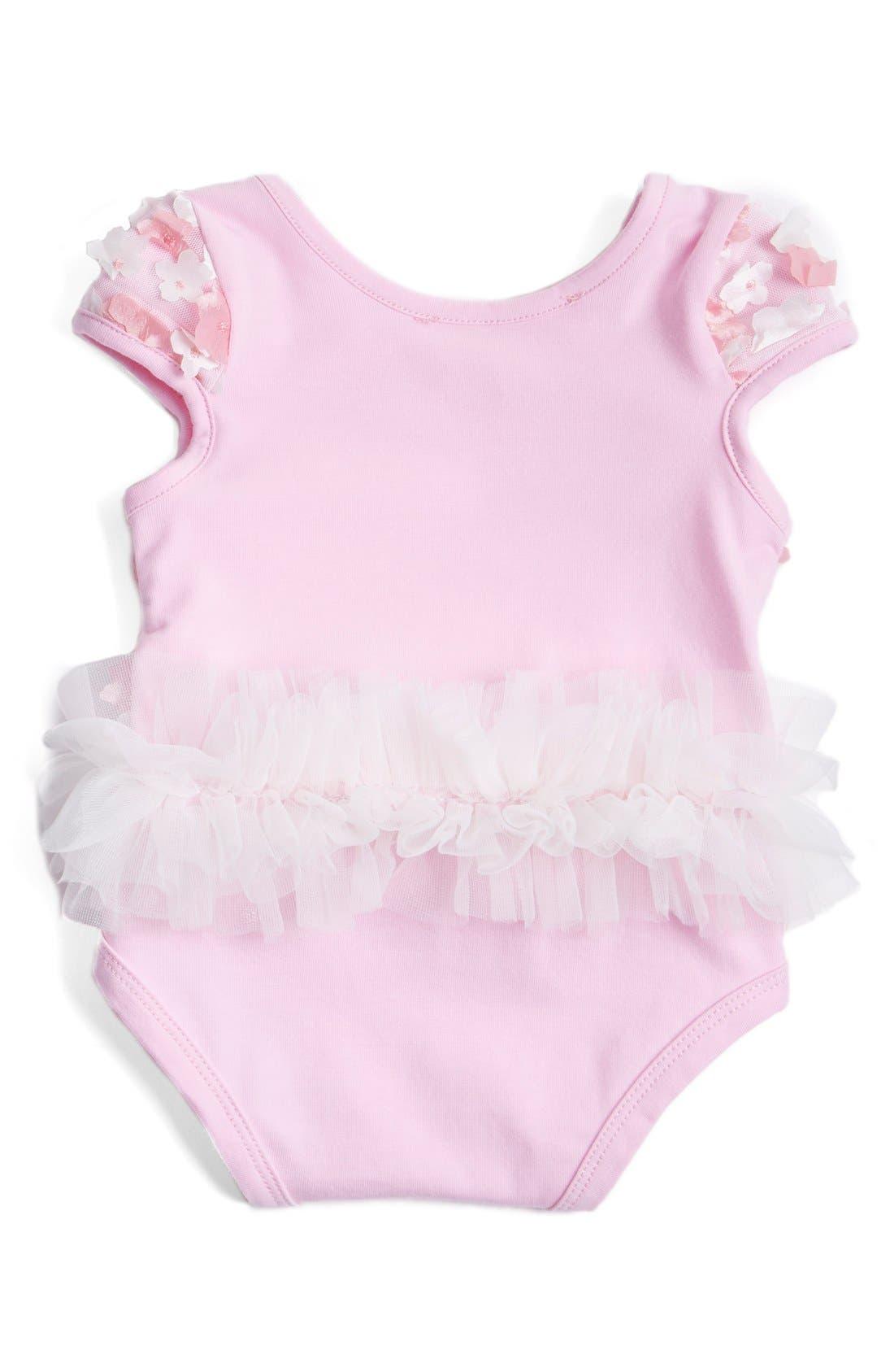 Tulle Bodysuit,                             Alternate thumbnail 2, color,                             Pink