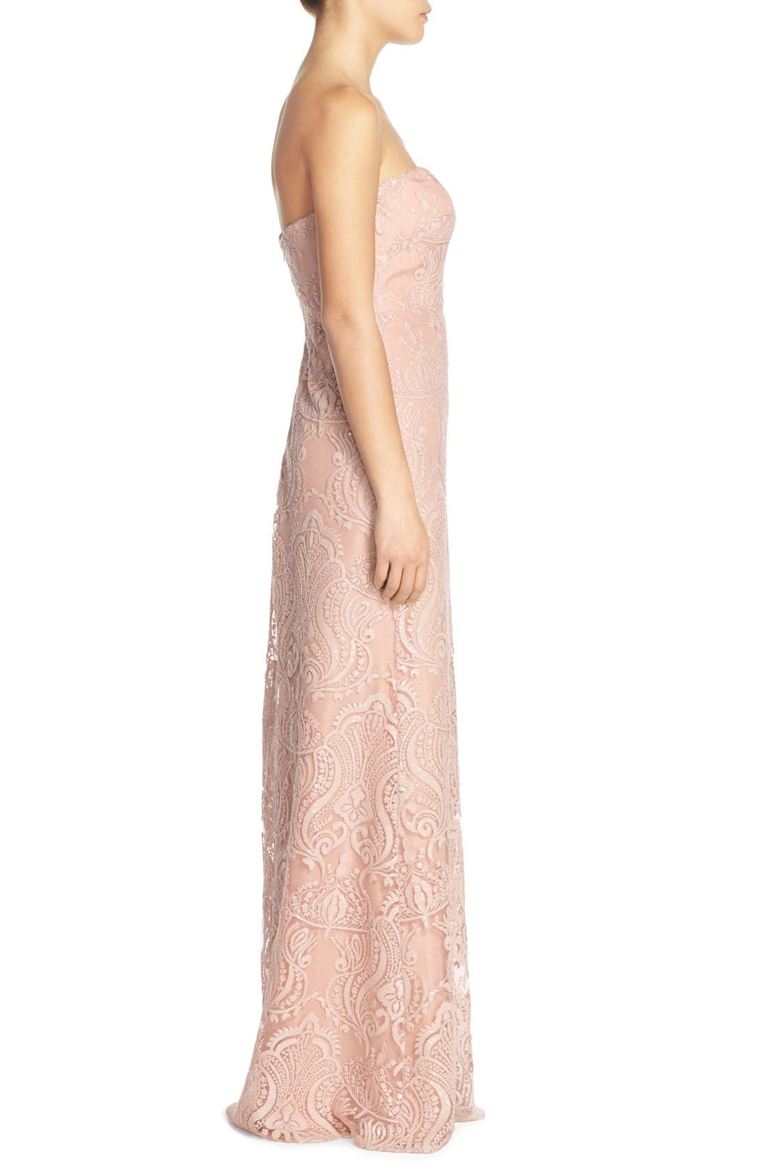 Alternate Image 3  - Jenny Yoo 'Sadie' Sequin Lace Strapless A-Line Gown