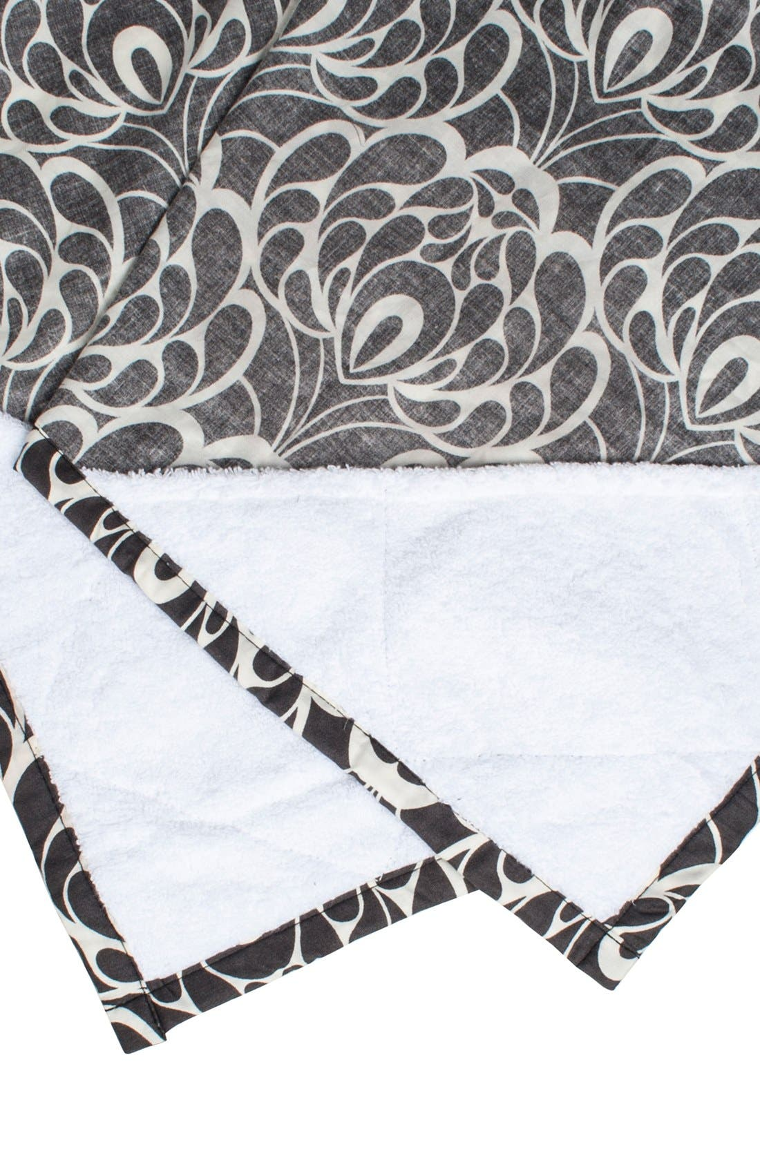 Cotton Nursing Cover,                             Alternate thumbnail 4, color,                             Black/ Cream