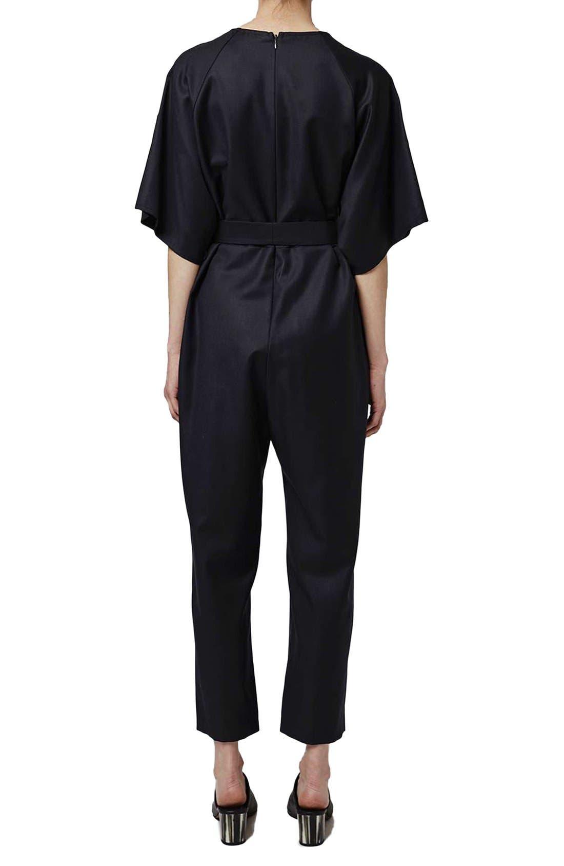 Alternate Image 2  - Topshop Boutique Wool Kimono Wrap Jumpsuit