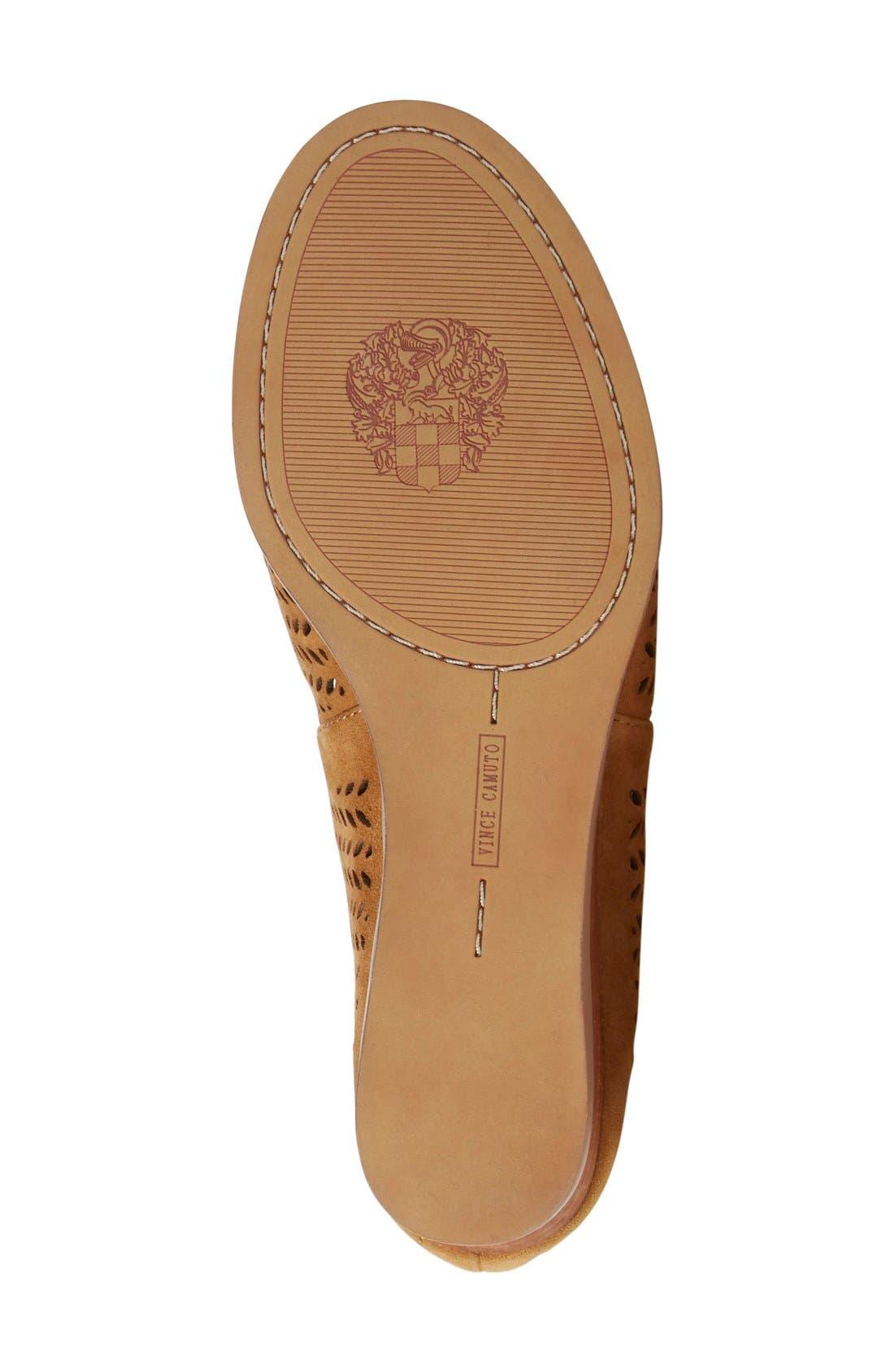 'Remme' Cutout Lace-Up Wedge Sandal,                             Alternate thumbnail 4, color,                             New Rust Suede