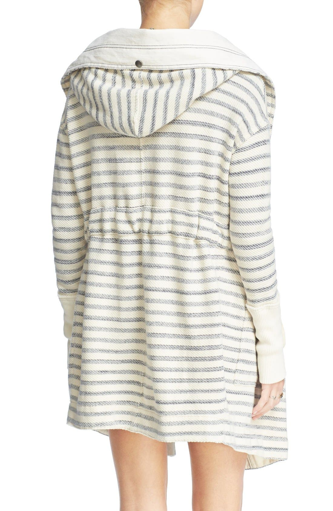 Alternate Image 2  - Free People 'Long Island' Stripe Hooded Cardigan