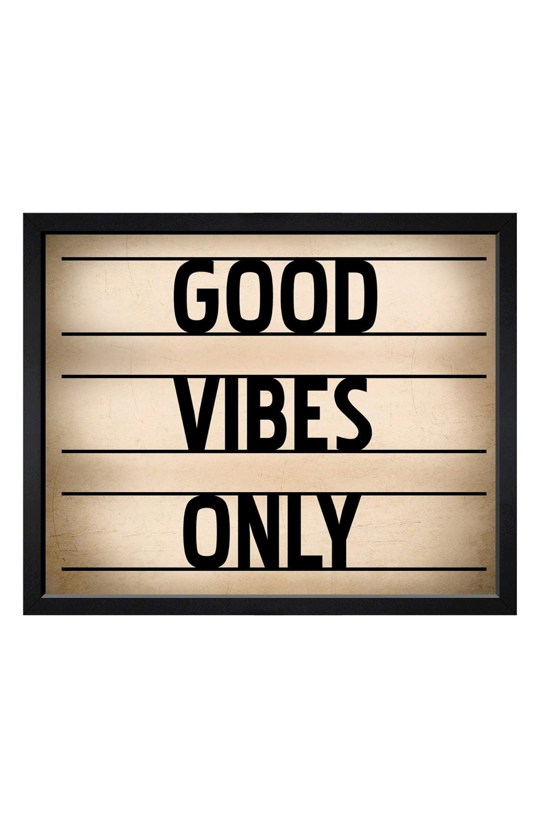 Alternate Image 1 Selected - Hatcher & Ethan 'Good Vibes Only' Framed Print