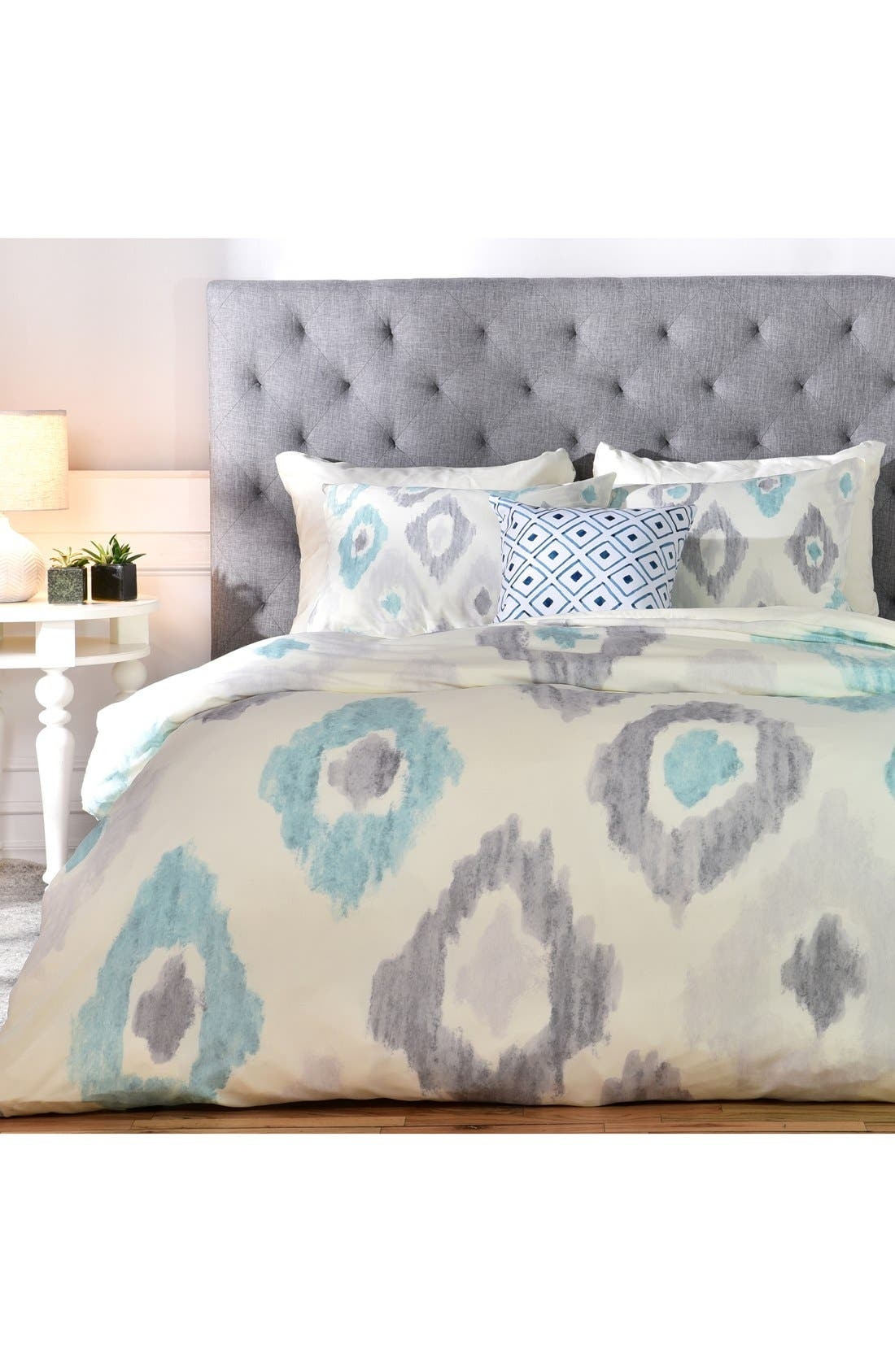 Alternate Image 1 Selected - Deny Designs Social Proper Quiet Ikat Duvet Cover & Sham Set