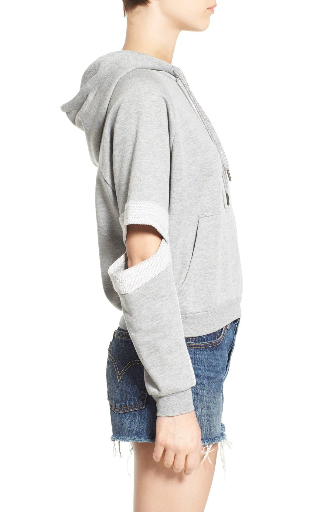 Alternate Image 3  - PUBLISH BRAND 'Lucia' Cutout Sleeve Hoodie