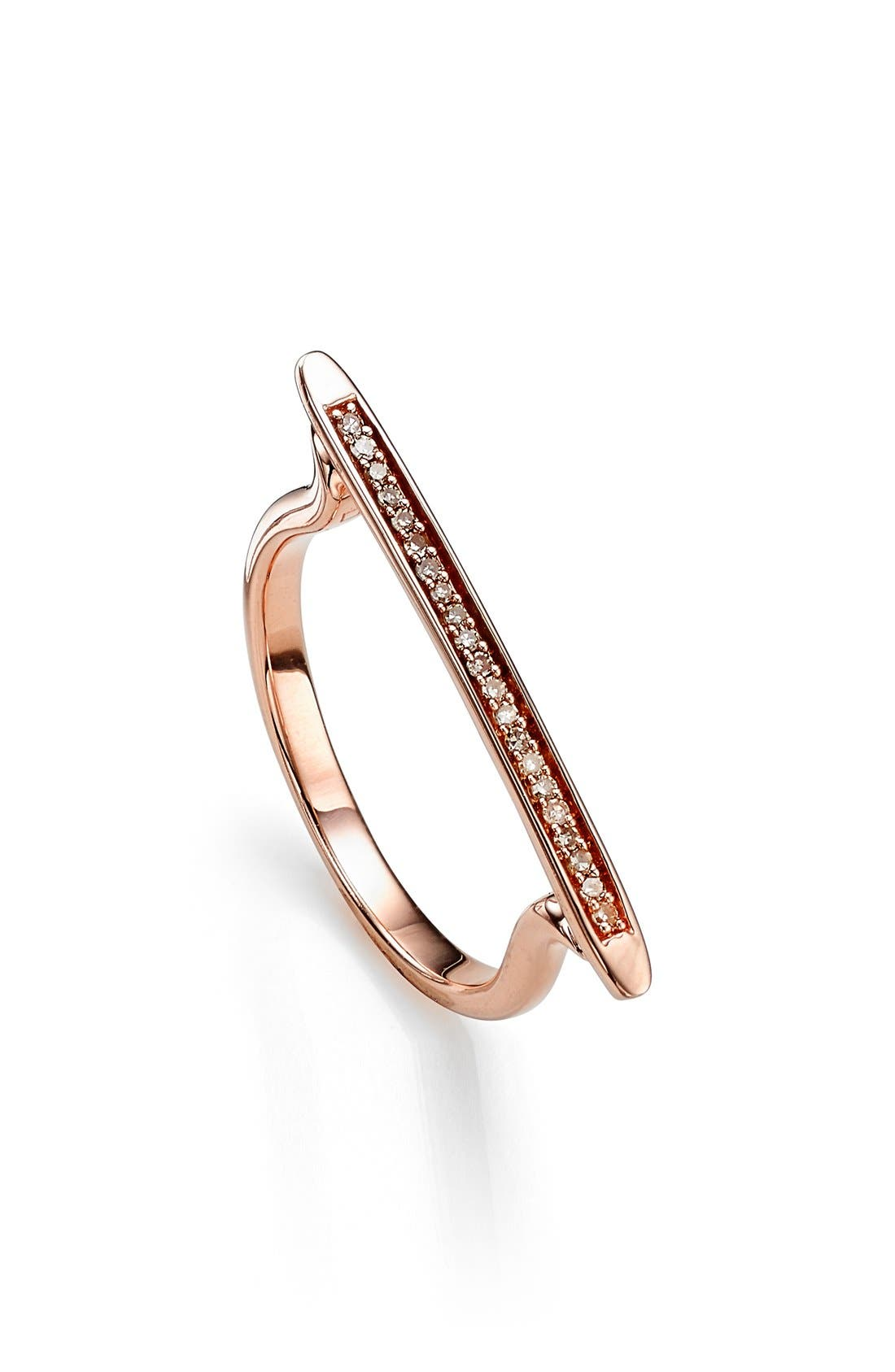 Alternate Image 1 Selected - Monica Vinader 'Skinny' Diamond Stacking Ring