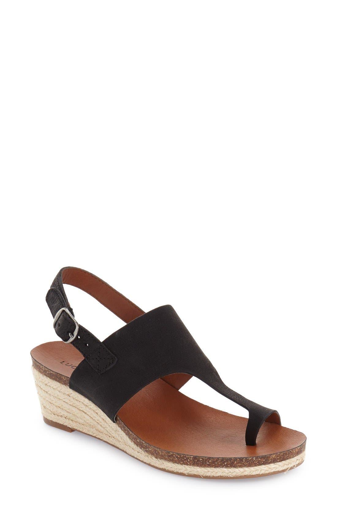 Alternate Image 1 Selected - Lucky Brand 'Janessa' Espadrille Wedge Sandal (Women)