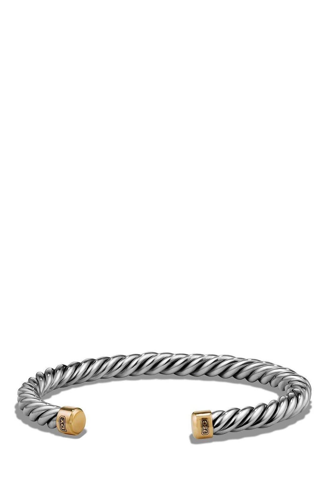 David Yurman 'Cable Classics' Cuff Bracelet with 18K Gold