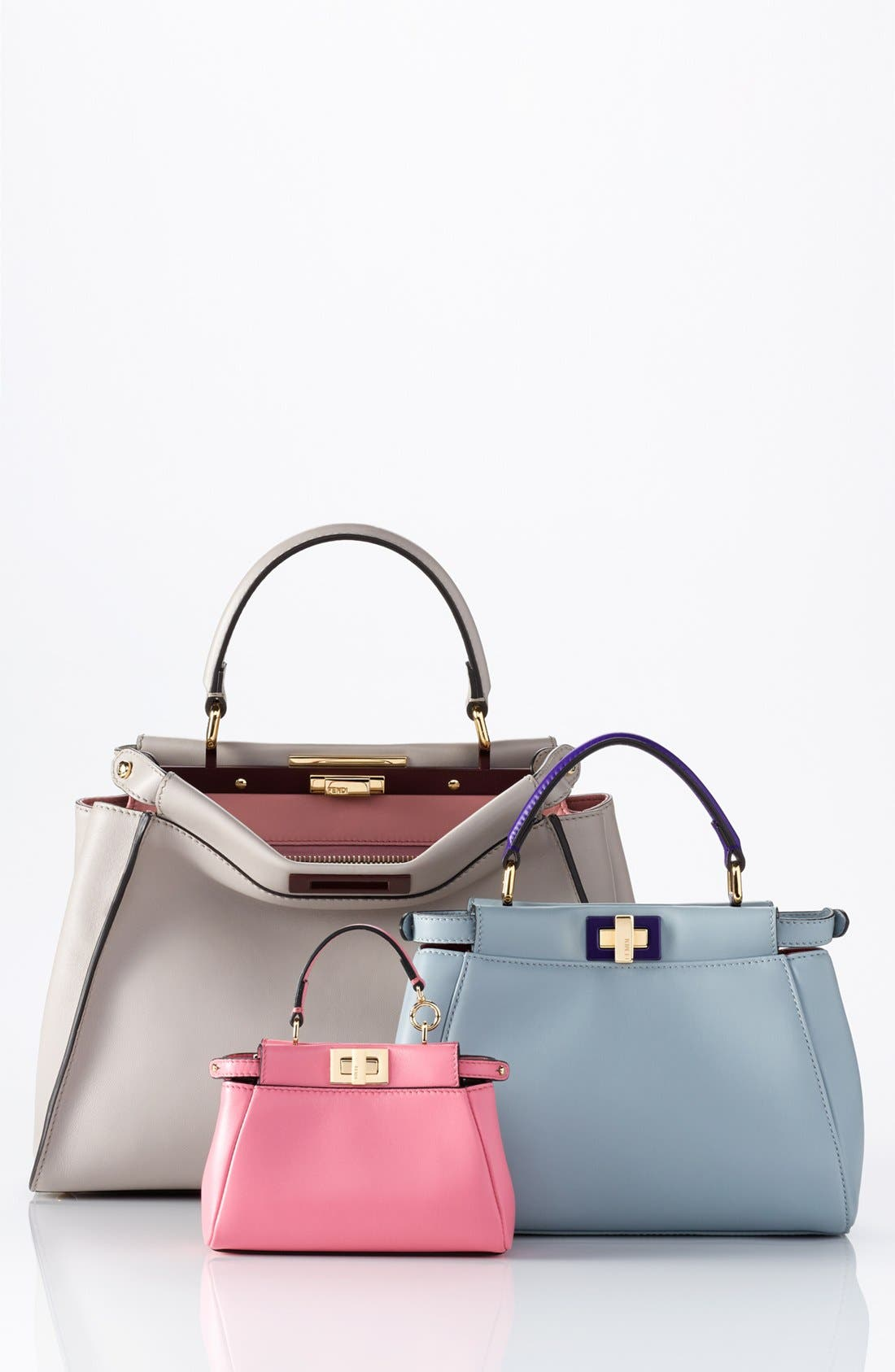 'Mini Peekaboo' Colorblock Leather Bag,                             Alternate thumbnail 6, color,