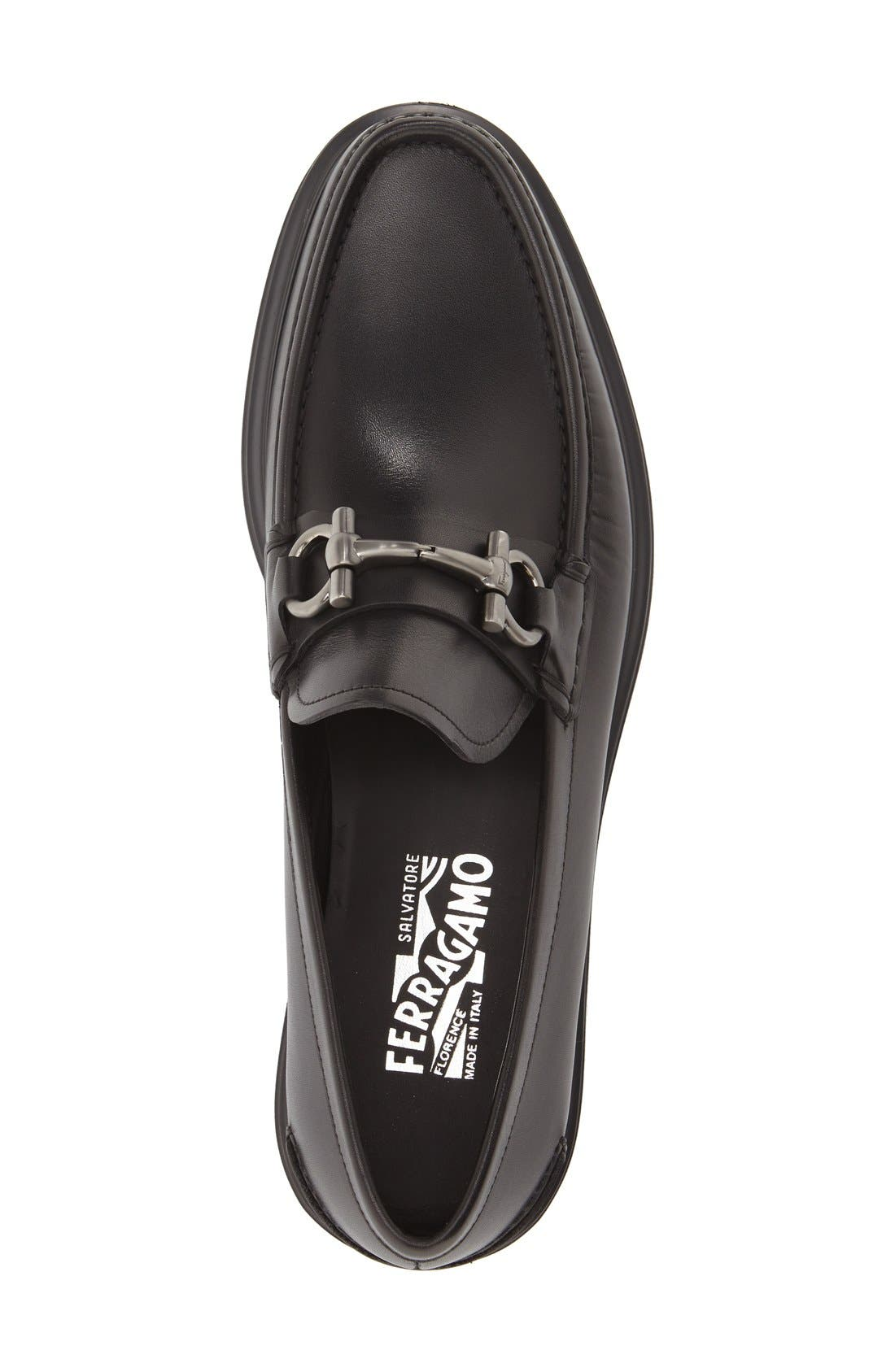 Loafer,                             Alternate thumbnail 3, color,                             Nero Leather