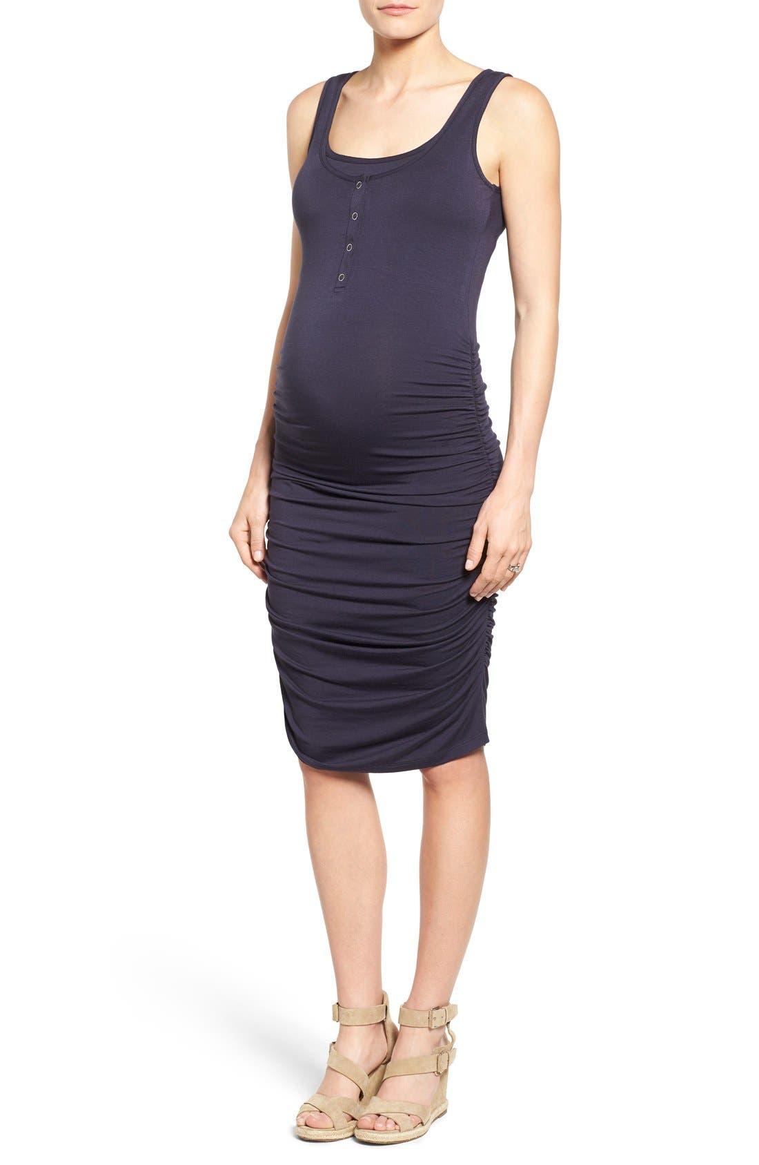 Alternate Image 1 Selected - Nom Maternity Sleeveless Maternity/Nursing Dress