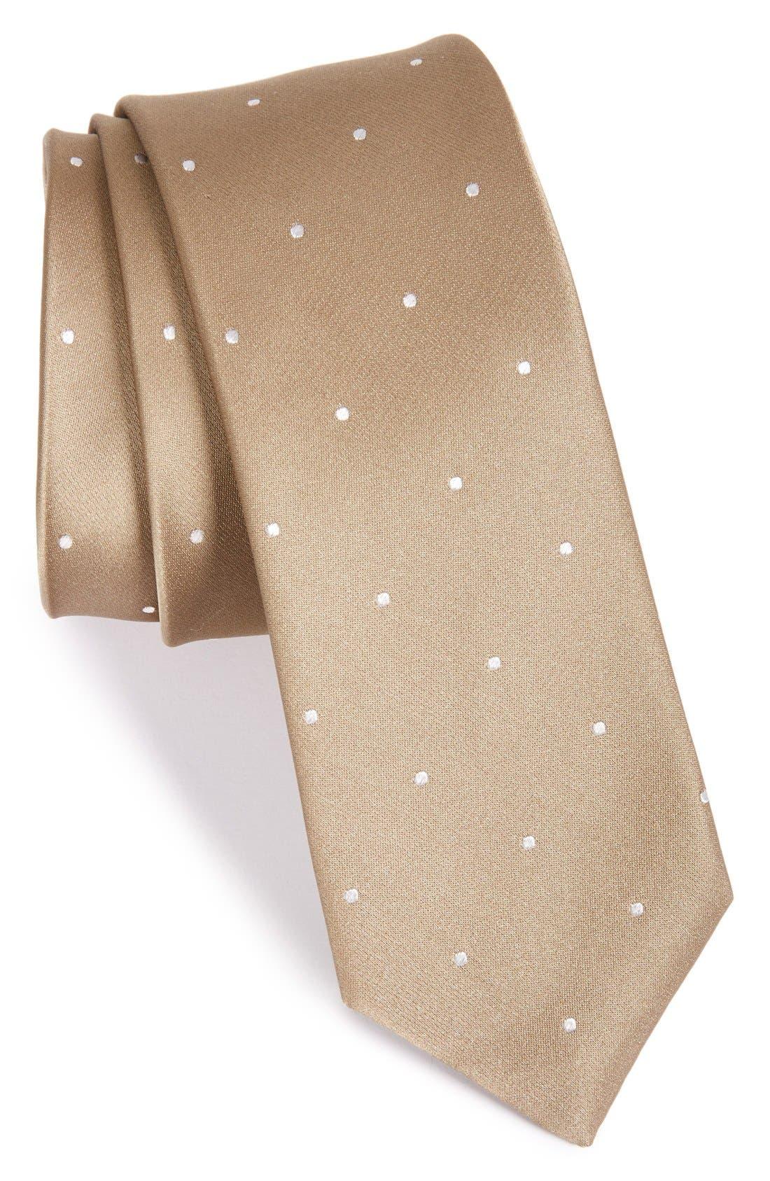 Alternate Image 1 Selected - The Tie Bar Dot Silk Tie