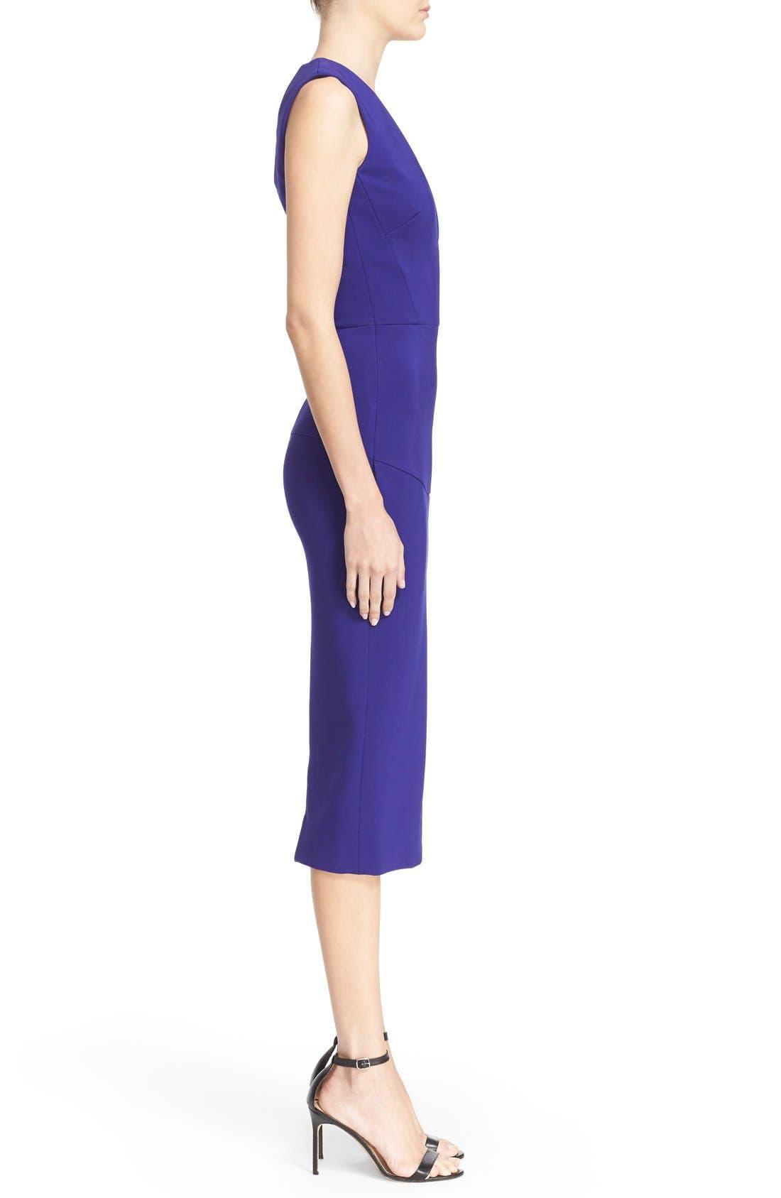 Alternate Image 4  - Victoria Beckham Plunging V-Neck Sheath Dress