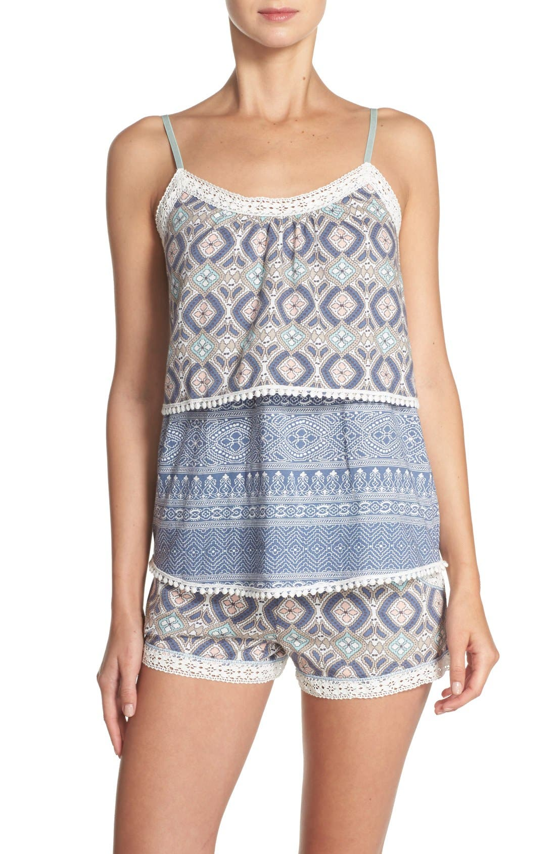 Alternate Image 5  - PJ Salvage 'Miss' Print Pajama Shorts