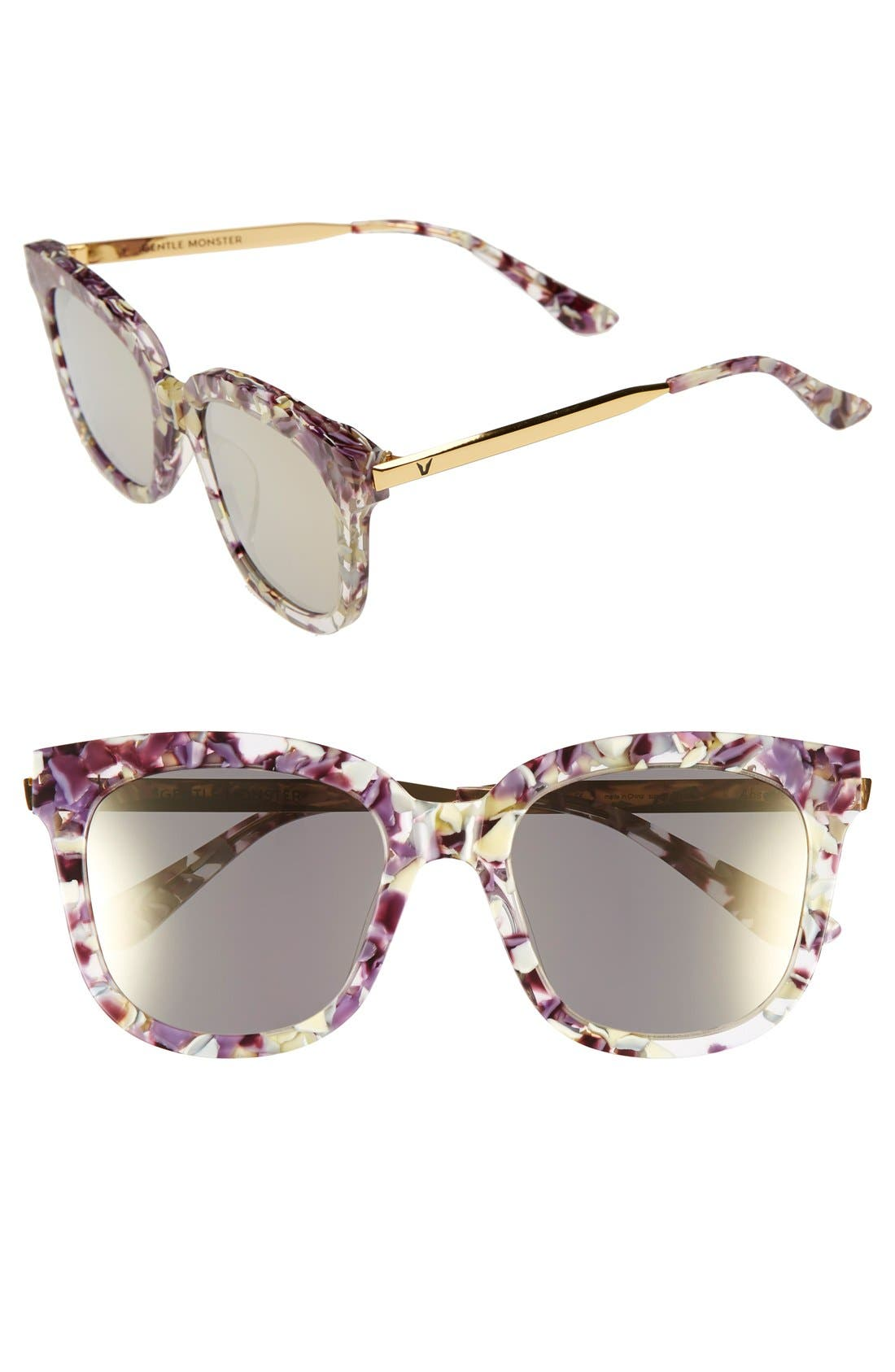 54mm Sunglasses,                             Main thumbnail 1, color,                             Light Purple/ Clear
