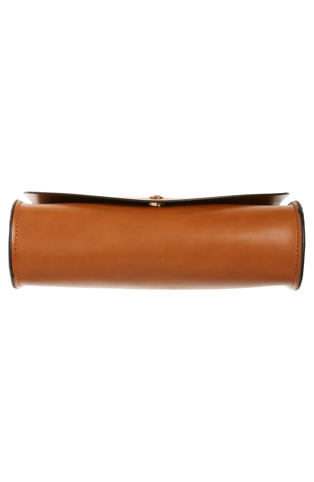 Alternate Image 6  - Cesca Faux Leather Crossbody Bag