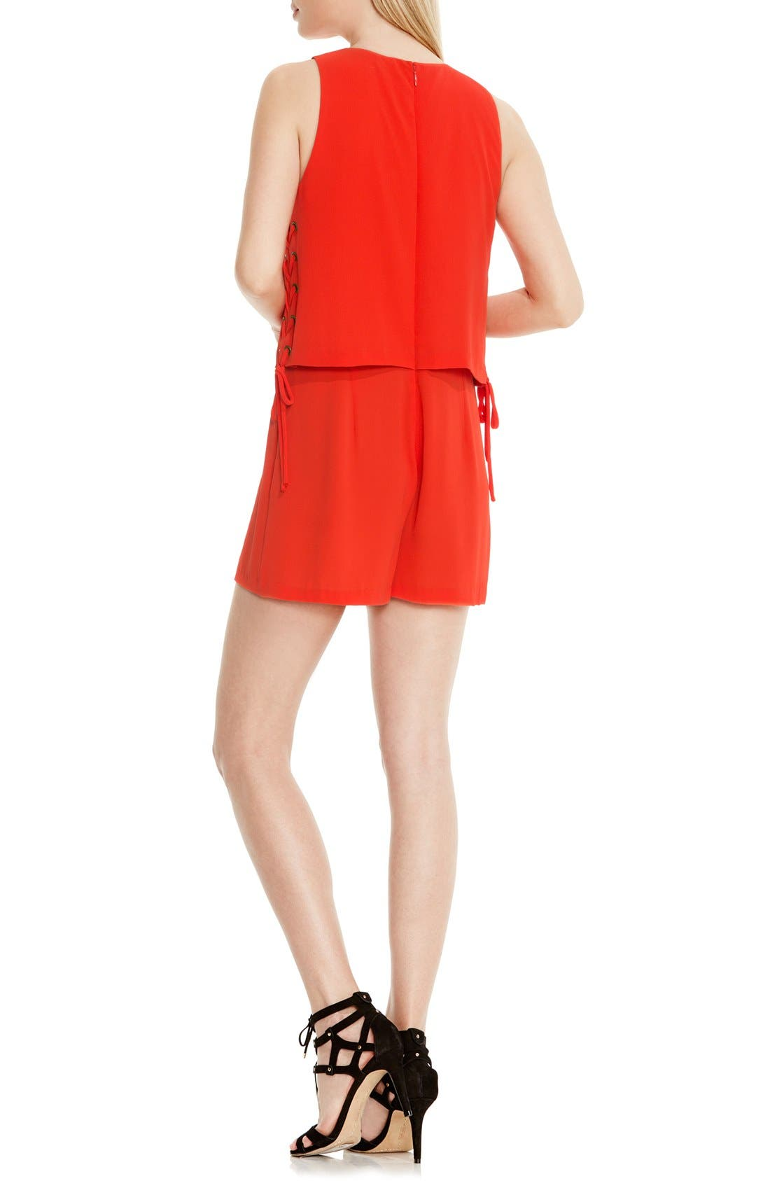 Alternate Image 4  - Vince Camuto Lace-Up Detail Sleeveless Romper