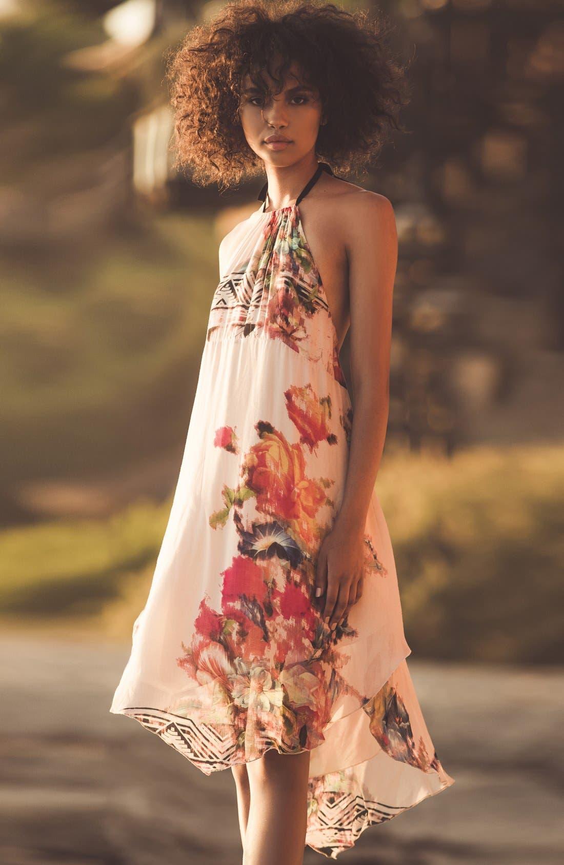 Alternate Image 5  - O'Neill 'Rosette' Mixed Print Halter Dress