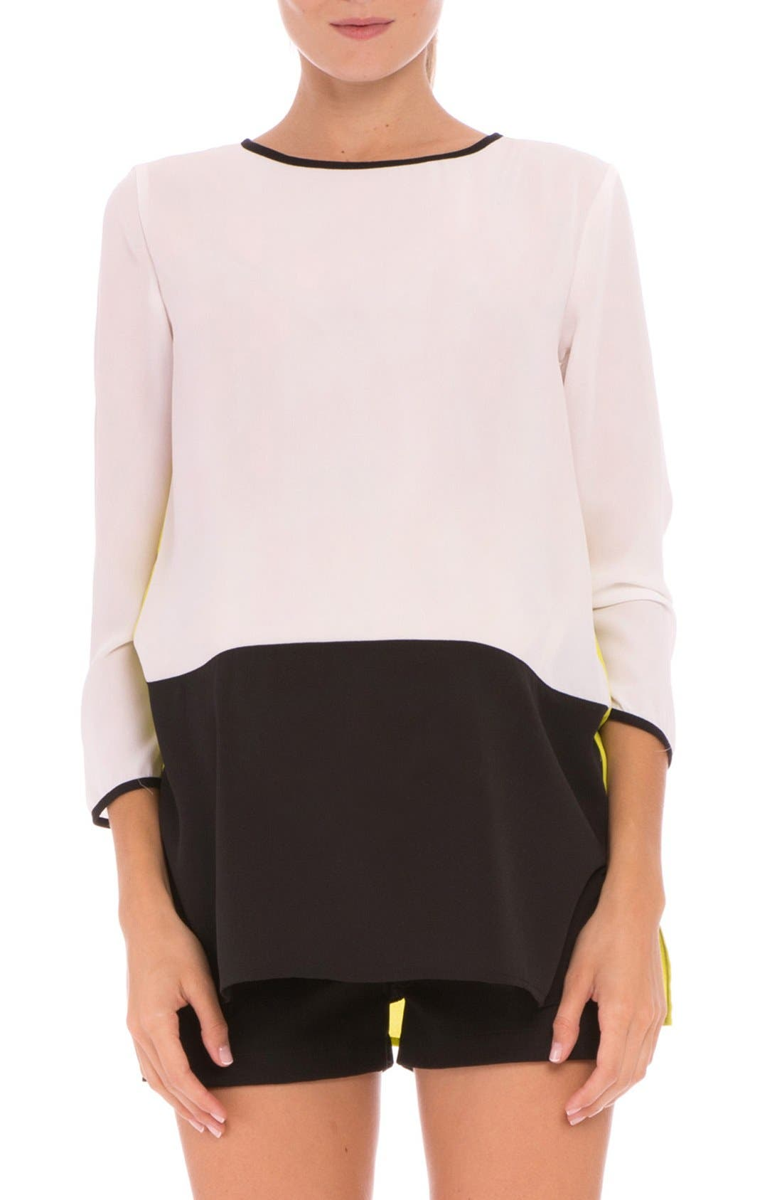 Alternate Image 1 Selected - Olian 'Mia' Colorblock Maternity Top