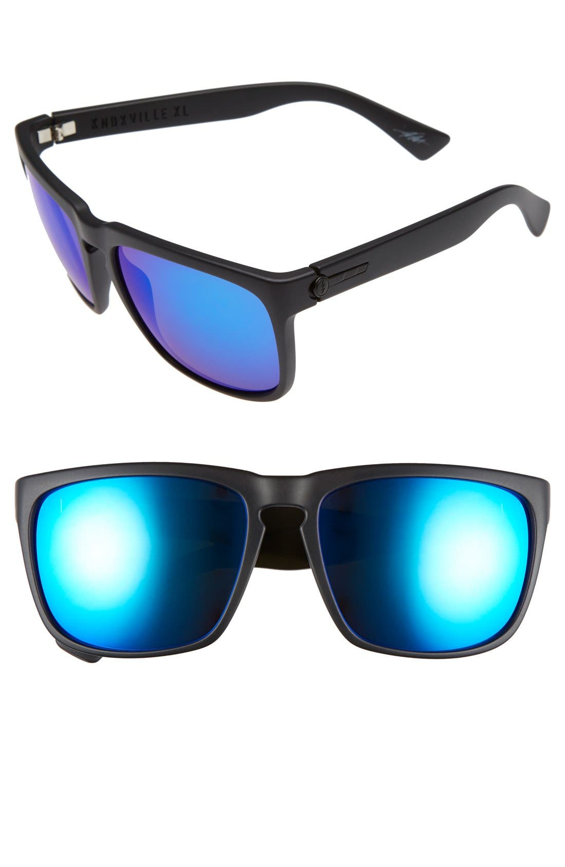 'Knoxville XL' 61mm Sunglasses,                             Main thumbnail 1, color,                             Matte Black