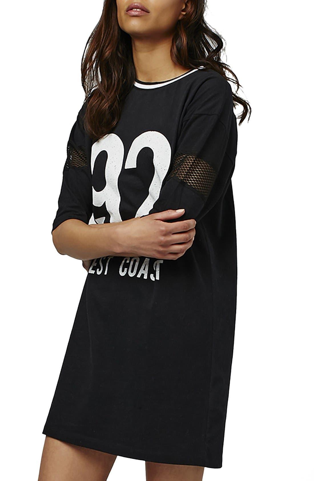 Alternate Image 3  - Topshop 'West Coast' Jersey T-Shirt Minidress