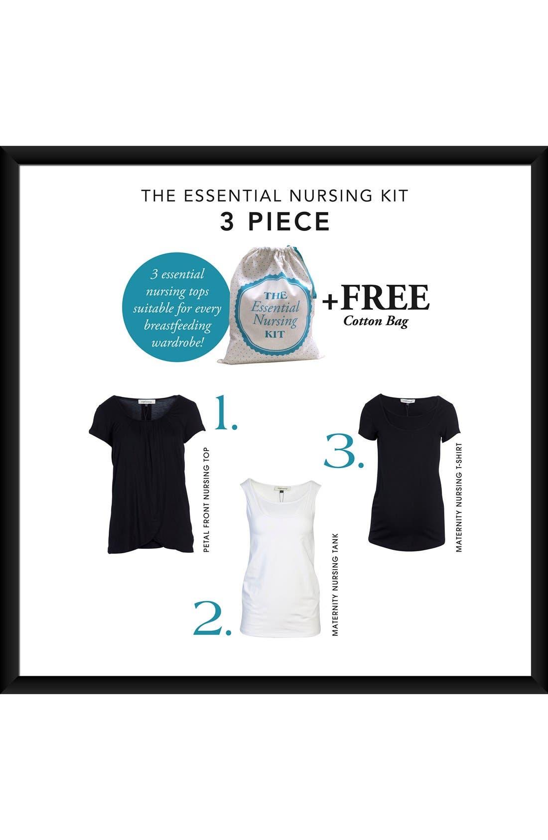 'Essential' Maternity/Nursing Kit,                             Alternate thumbnail 2, color,                             Black