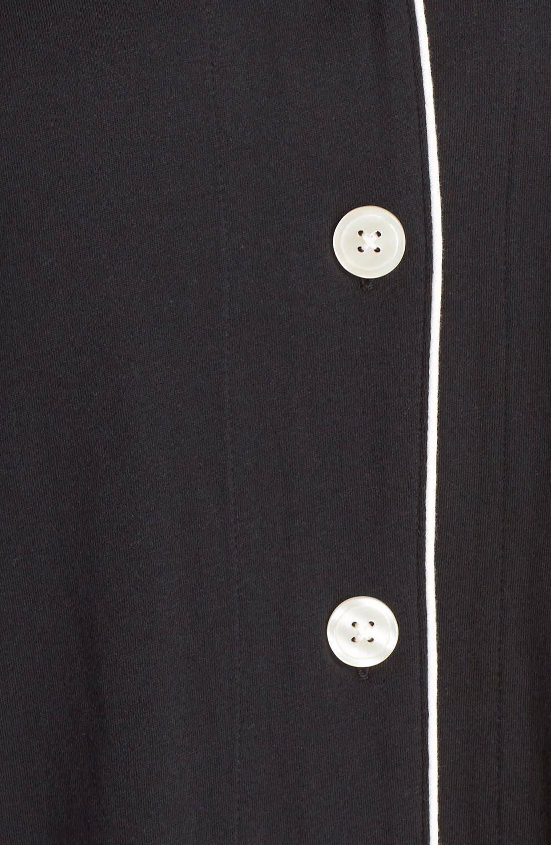 Knit Pajamas,                             Alternate thumbnail 5, color,                             Black