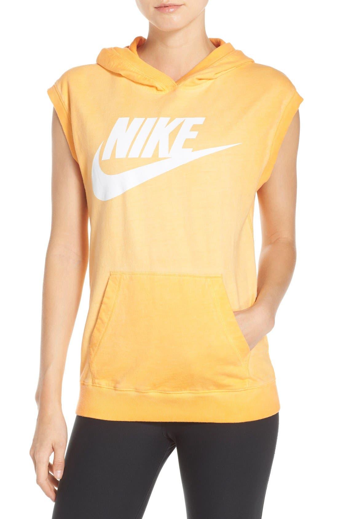 Alternate Image 1 Selected - Nike Logo Sleeveless Cotton Hoodie