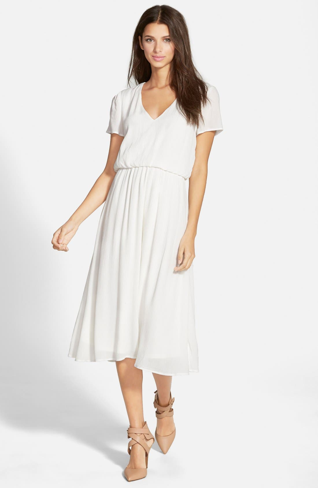 Nordstrom white dresses plus size